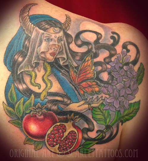High Priestess pagan tattoo