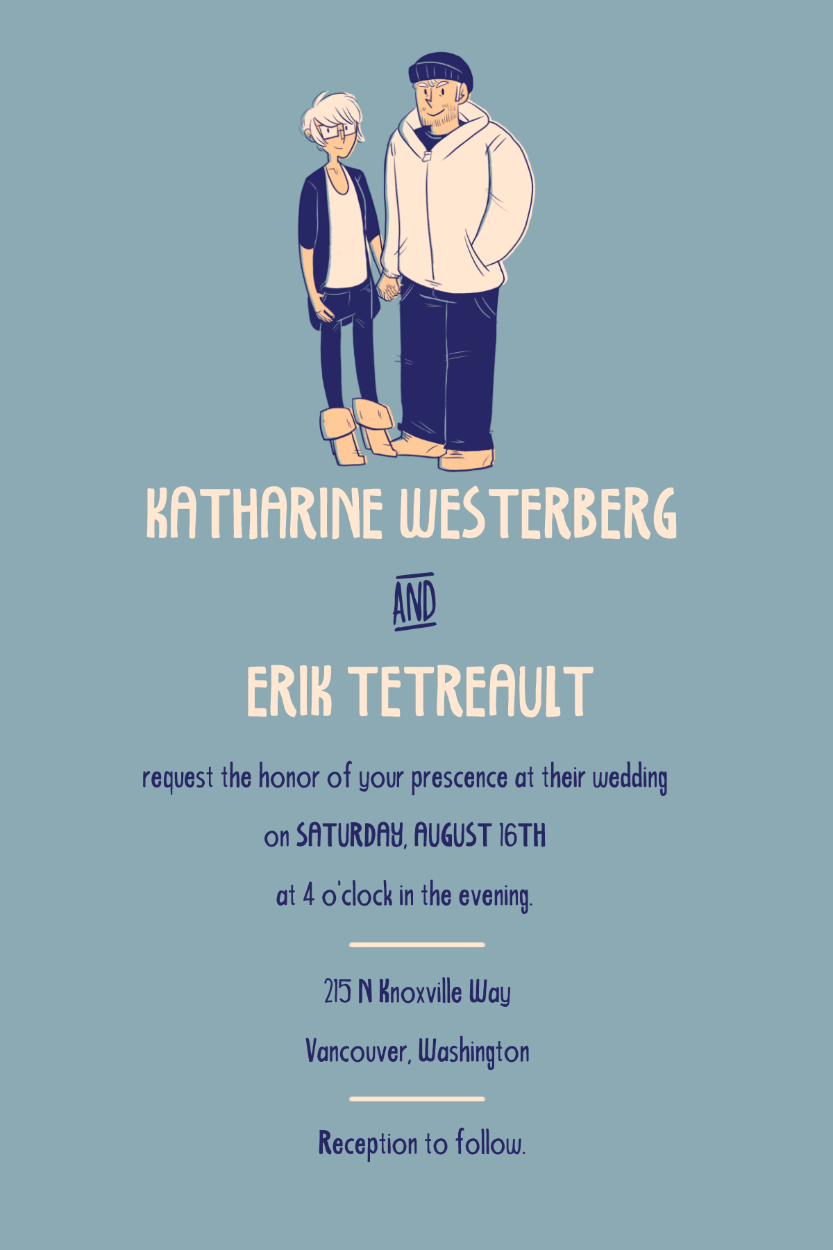 Wedding invitation. 2014.