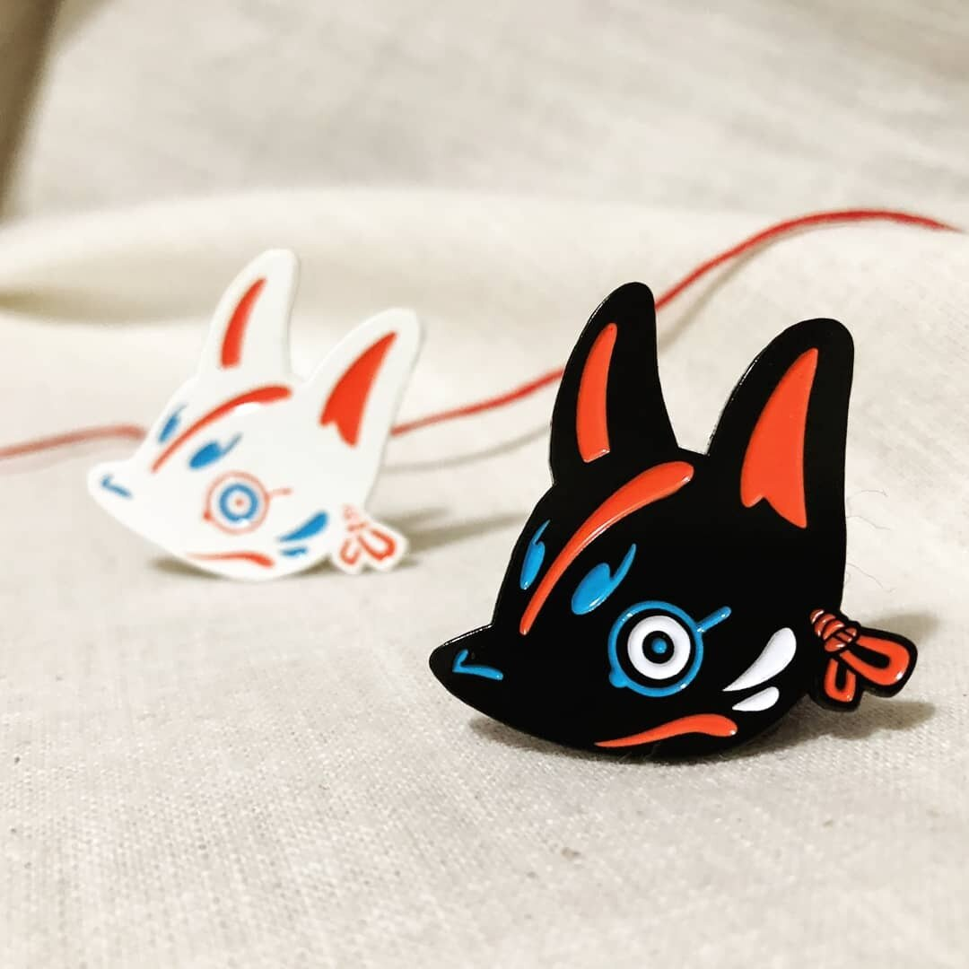 Kitsune Mask Pins