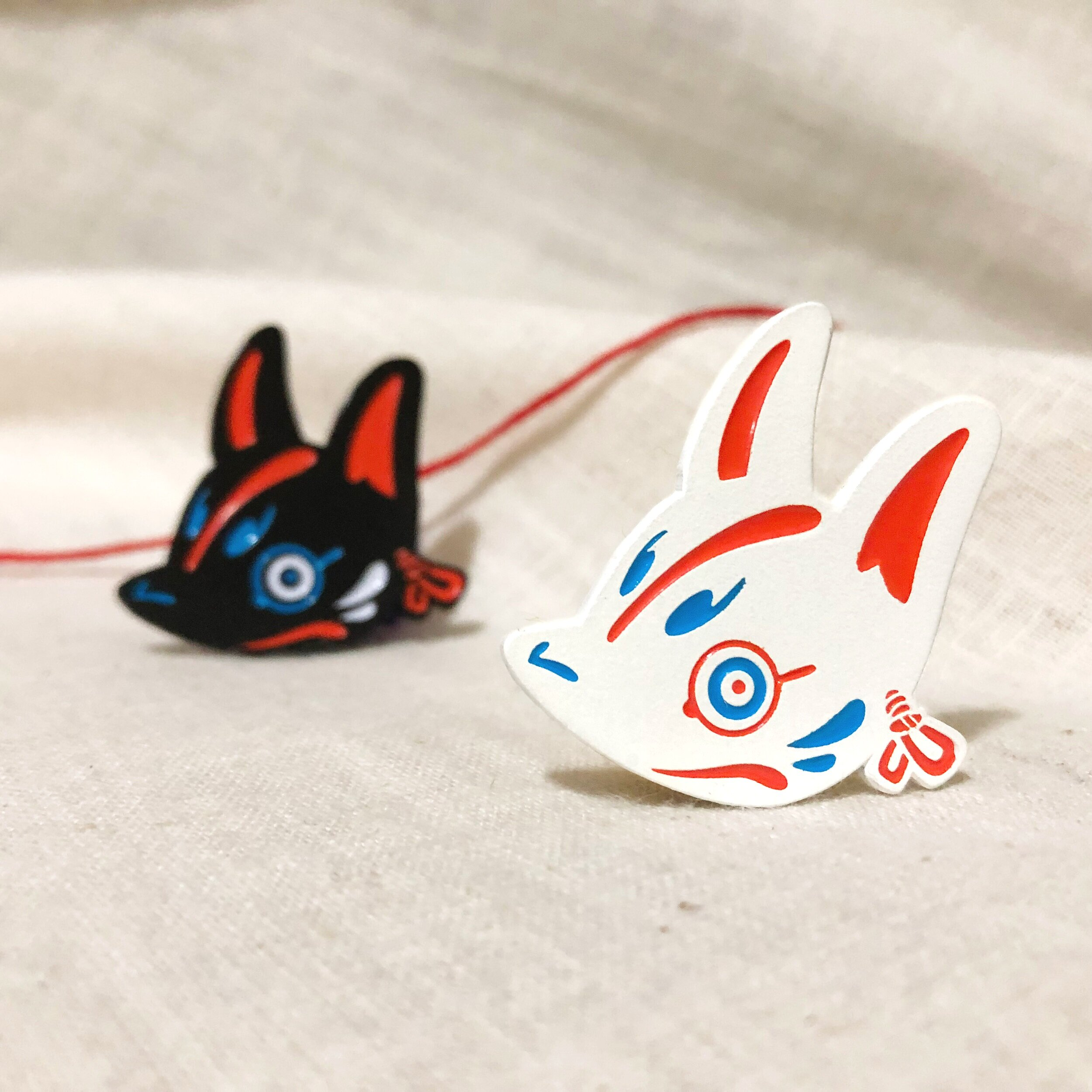 Kitsune Mask - White
