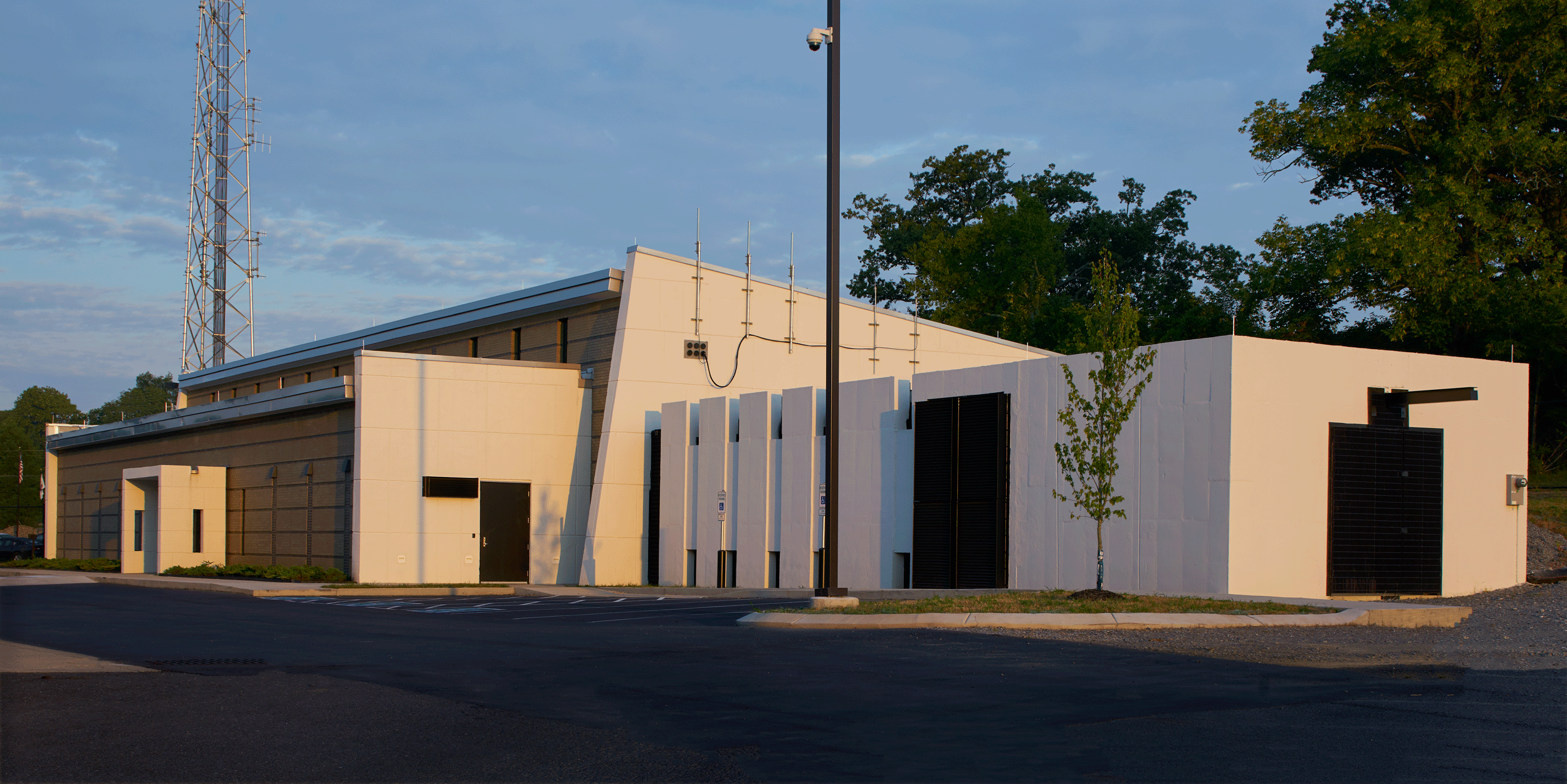 exterior view from mechanical yard