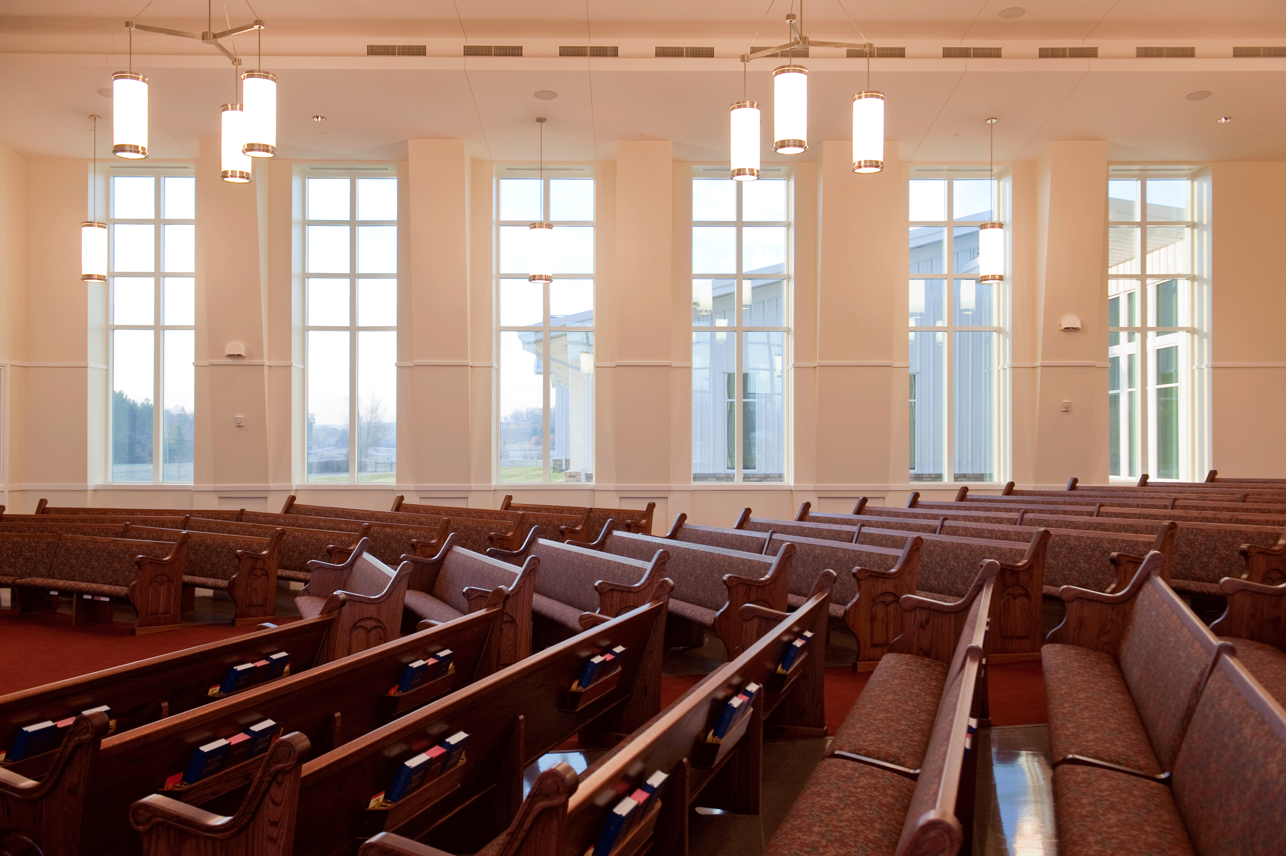 pews and window geometry