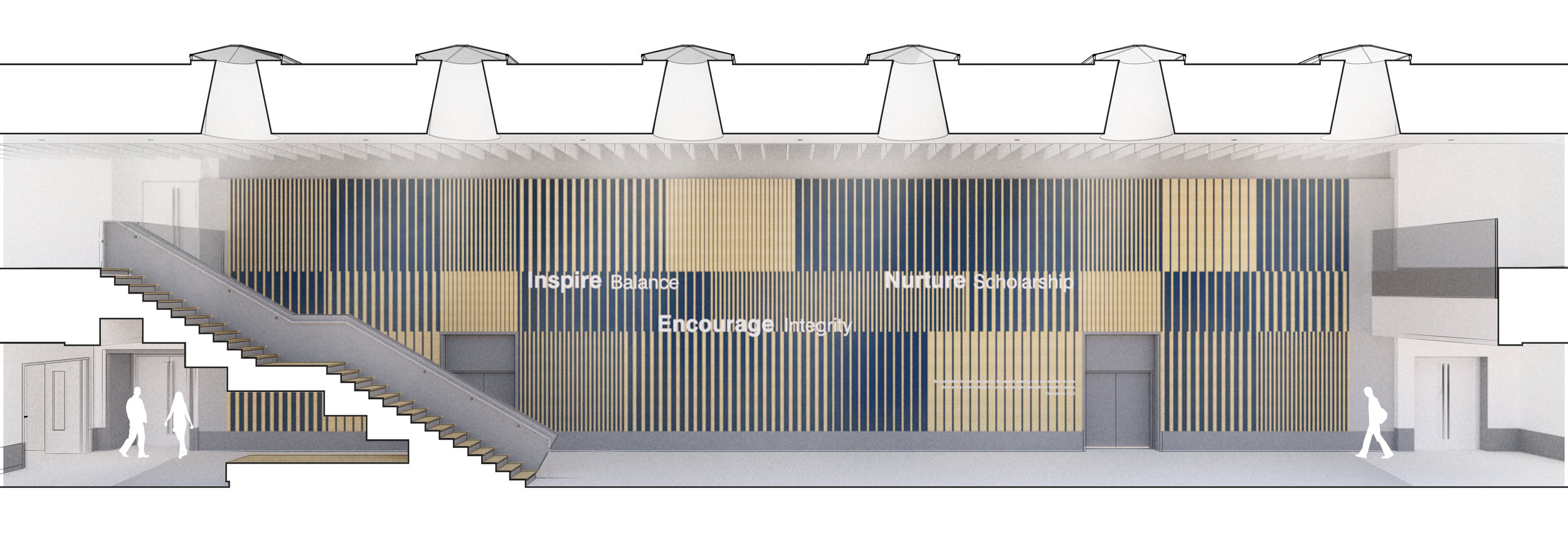 Inspiration Wall and Stair Rendering