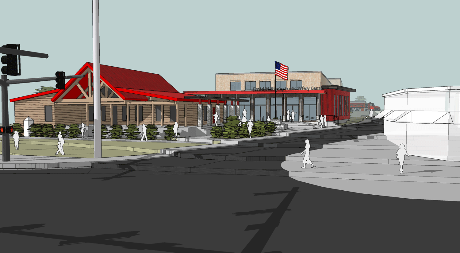 Perspective View of Entrance