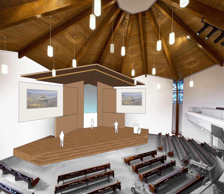 Madison Church Interior Renovation  Madison, Tennessee