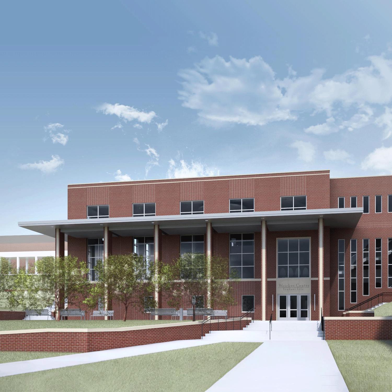 Student Center Entrance Rendering