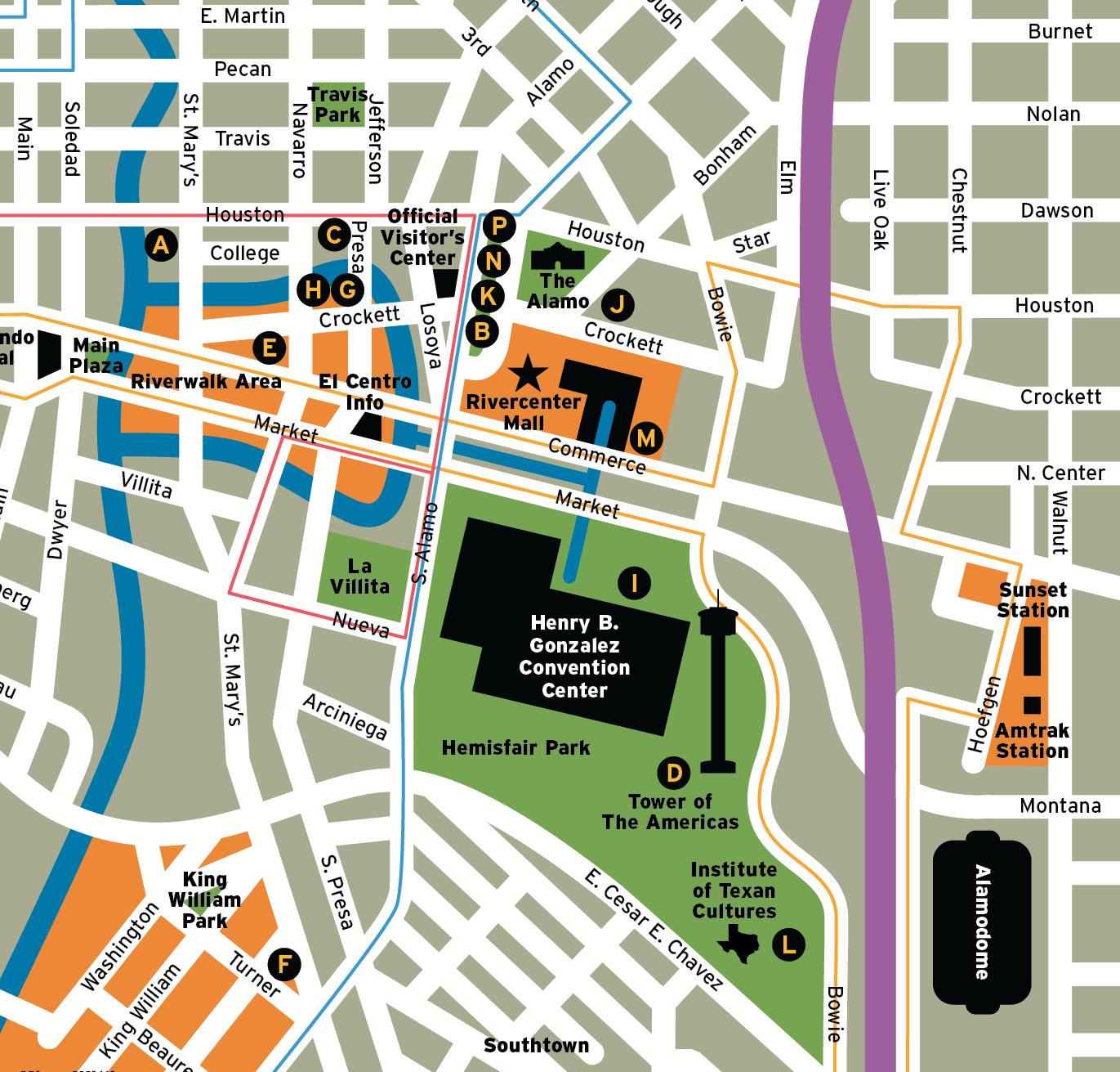 San Antonio Map, Detail