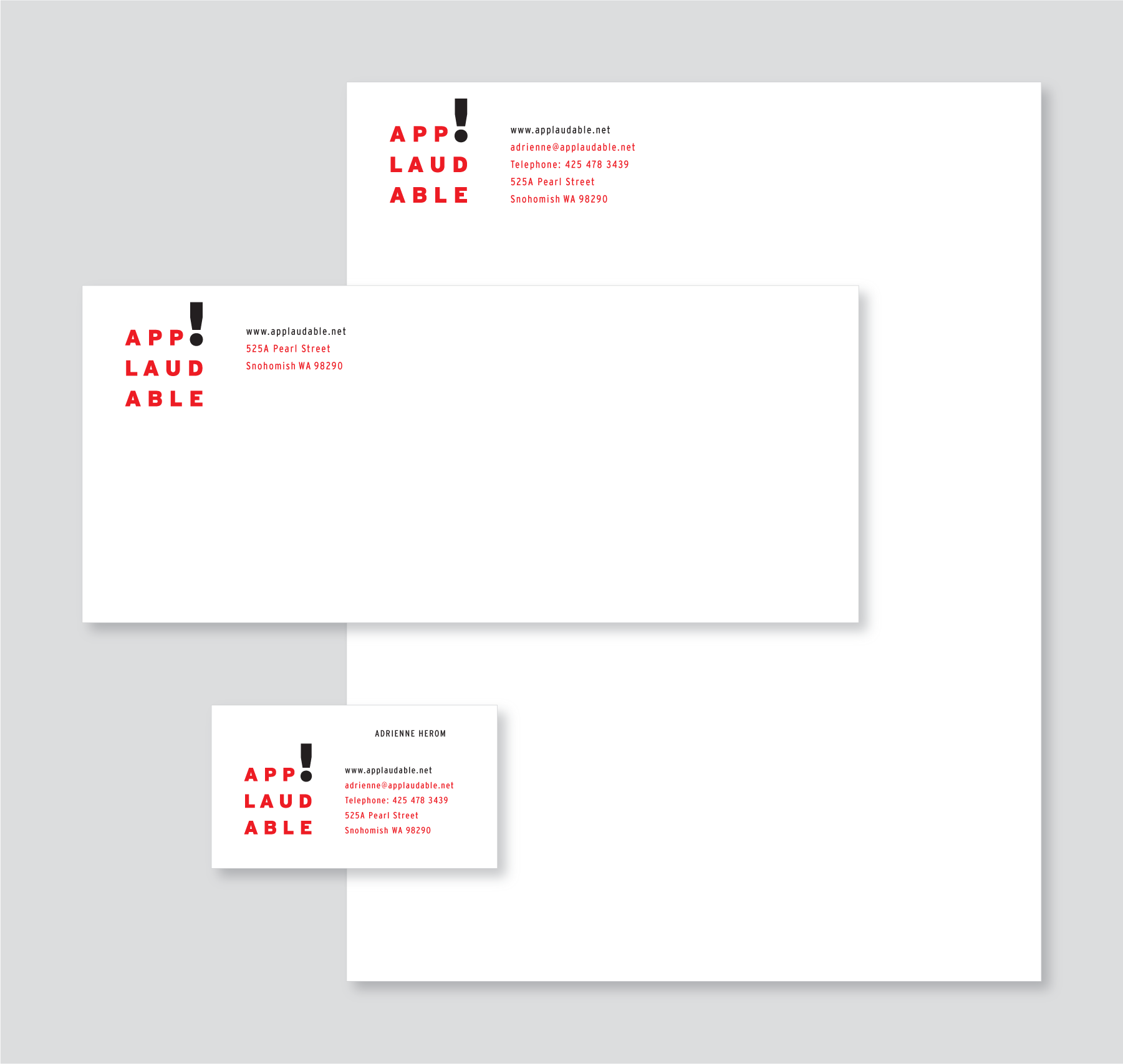 Stationery System Design, Applaudable