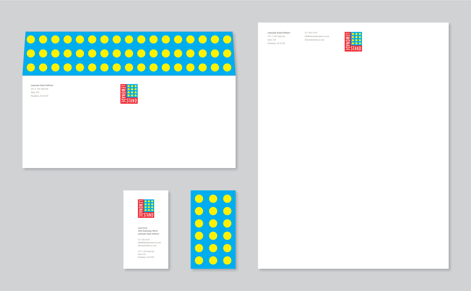 Stationery System Design, Lemonade Stand Pop-Up Stores