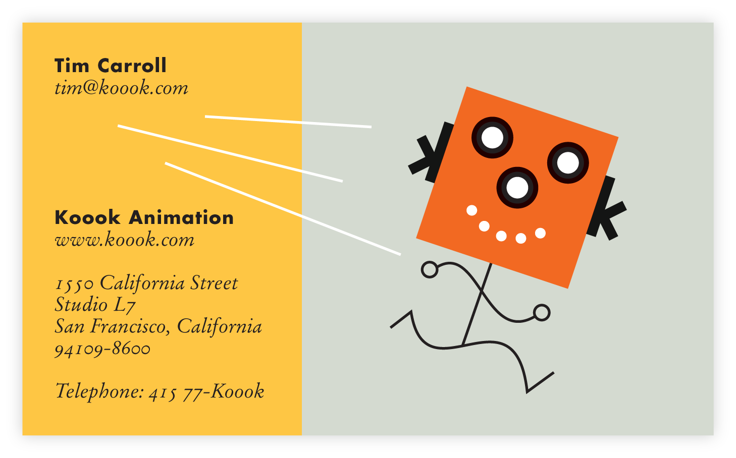 Business Card Design, Koook Animation