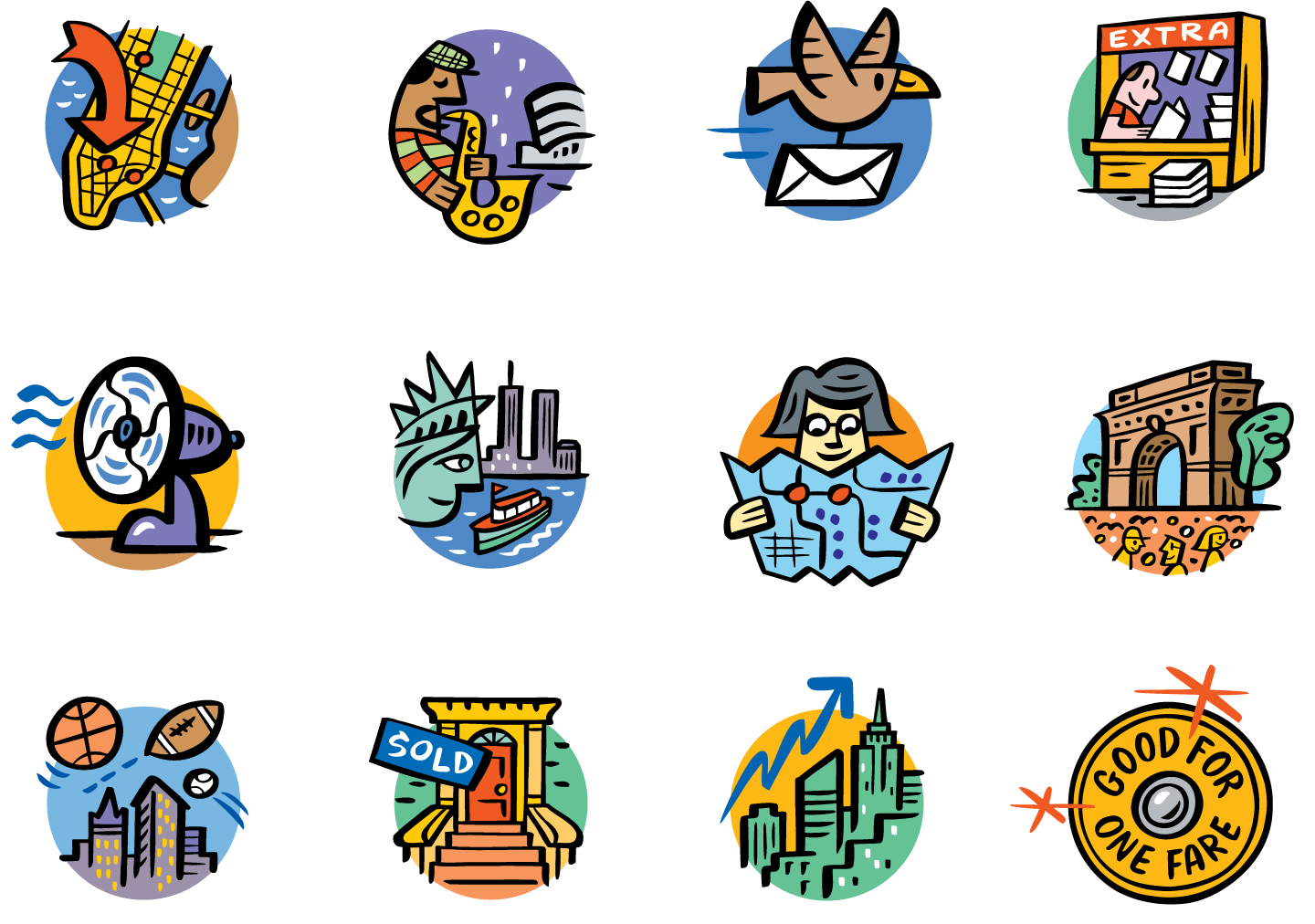 Icons for Yahoo New York