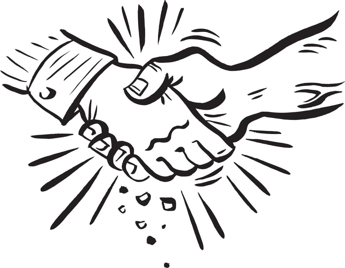VERY Friendly Handshake