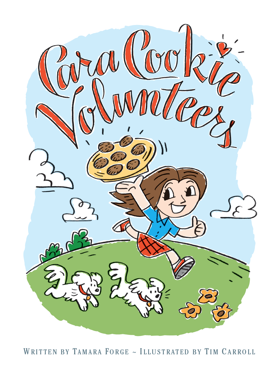 Illustration and Lettering for Children's Book, Cara Cookie Volunteers