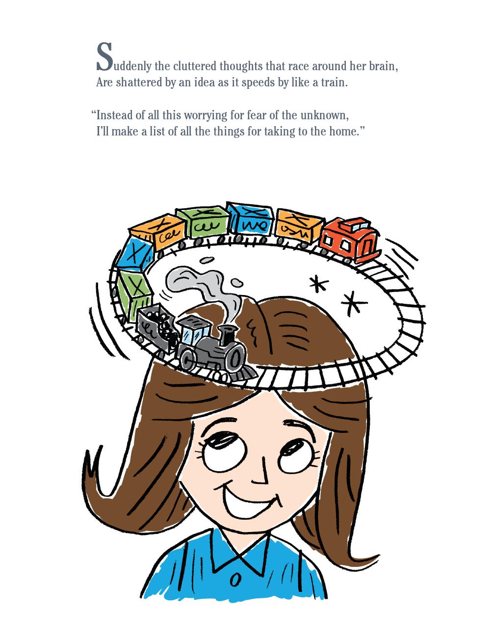 Illustration for Children's Book, Cara Cookie Volunteers