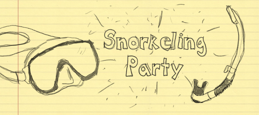 Enjoy a snorkel party with us!