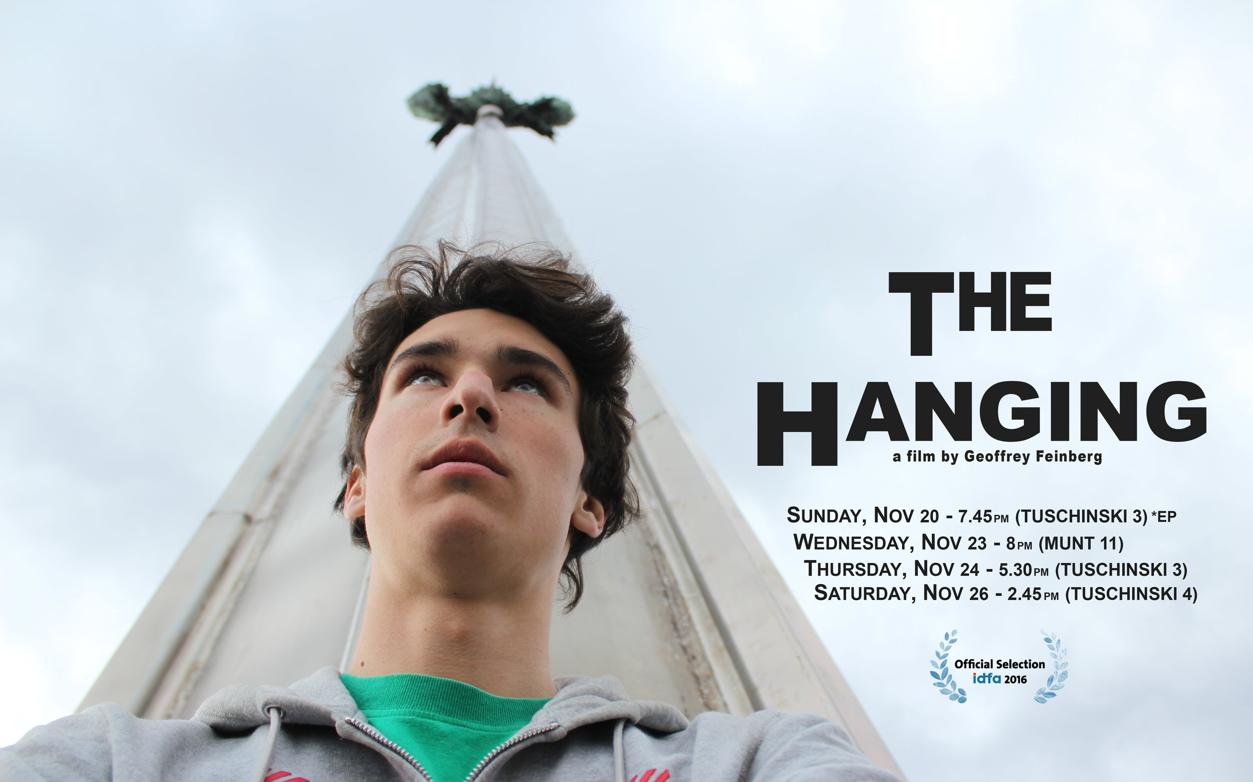 THE HANGING is having its European premiere at IDFA '16