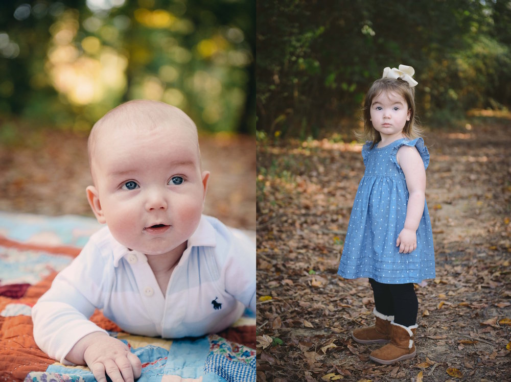 brother and sister portraits babies outdoor