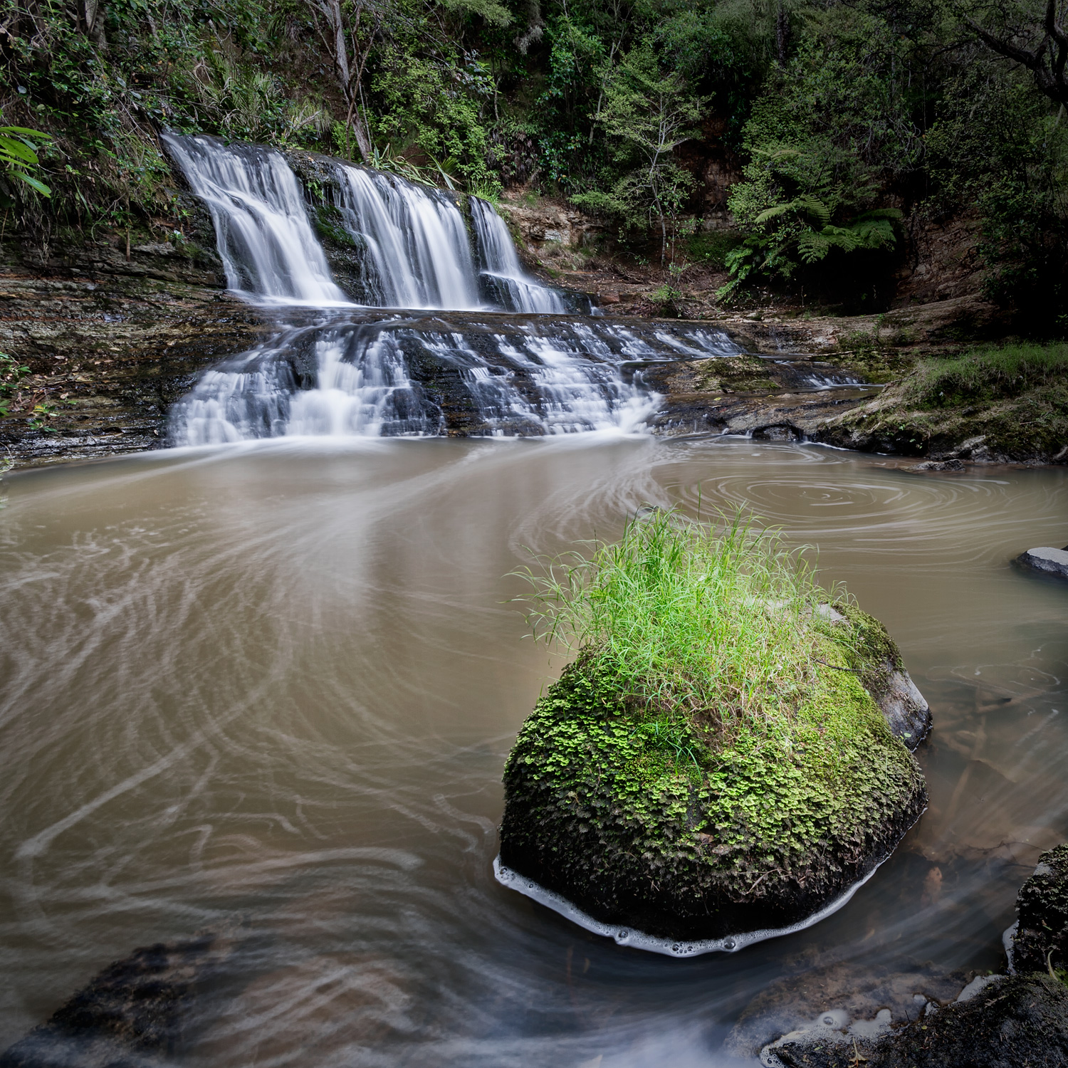 Waitangi Stream Cascade three - 10mm | 5, 20 & 30sec (phew!) | f16 | ISO100