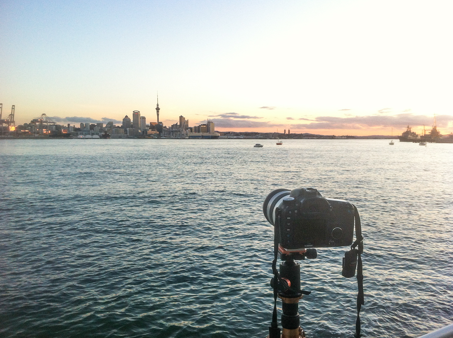Behind the Lens, waiting for the sun to set!