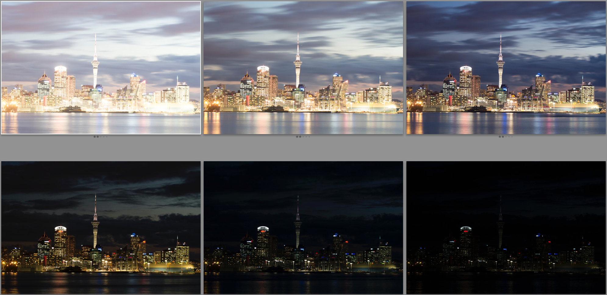 My 6 images straight out of camera.