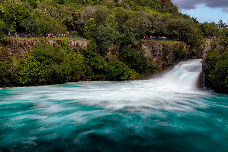 Huka Falls. 33  mm   2x exposures @ 0.4 & 1.4 sec   f16   ISO100