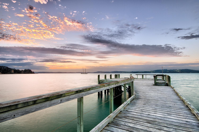 Vivian Bay Wharf at Sunset  . 11mm  2x exposures @ 3.2 & 1/5 sec   f16   ISO100
