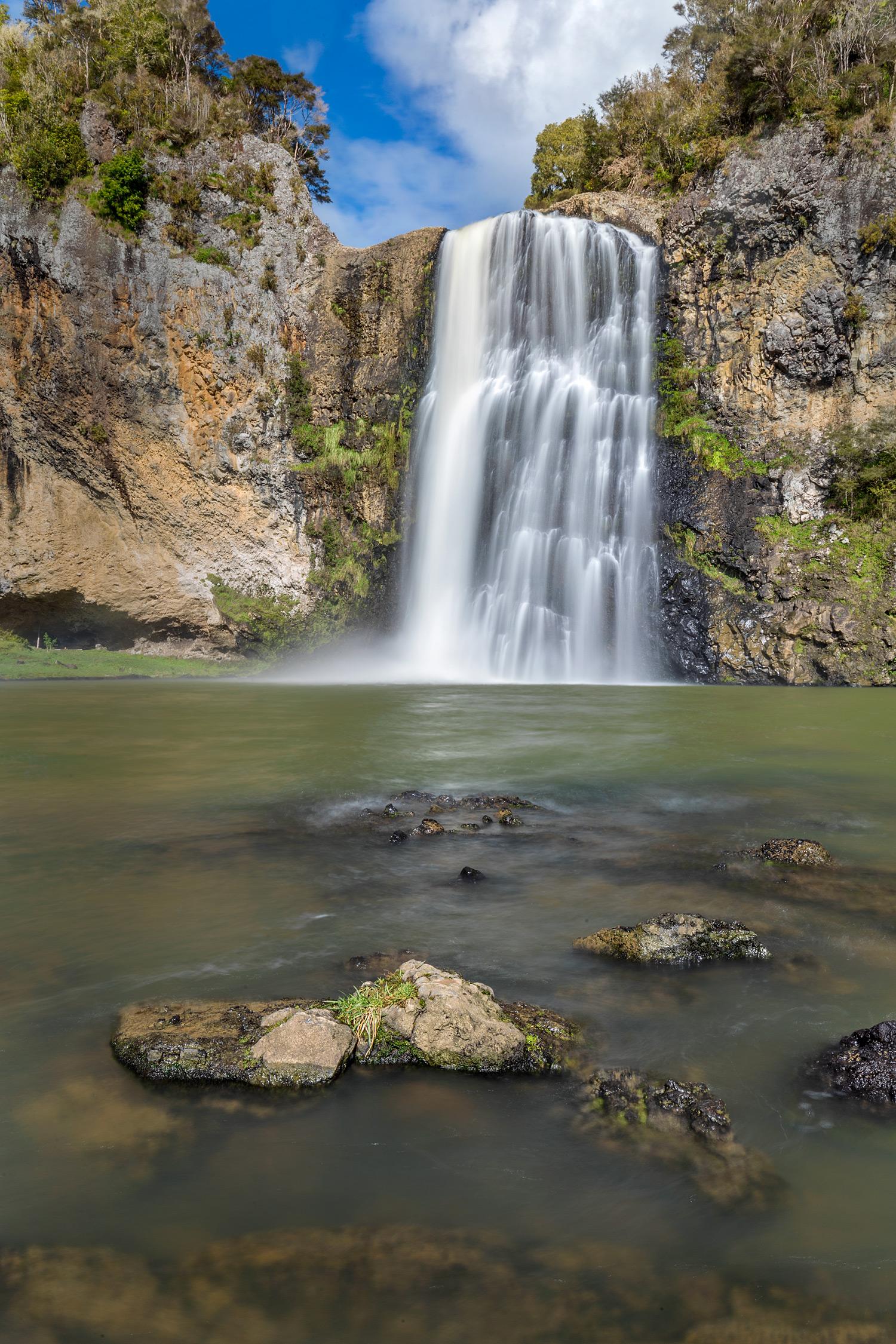 Hunua Falls Portrait | 31mm | 2x exposure blend @ 0.5 and 2 sec | f22 | ISO100