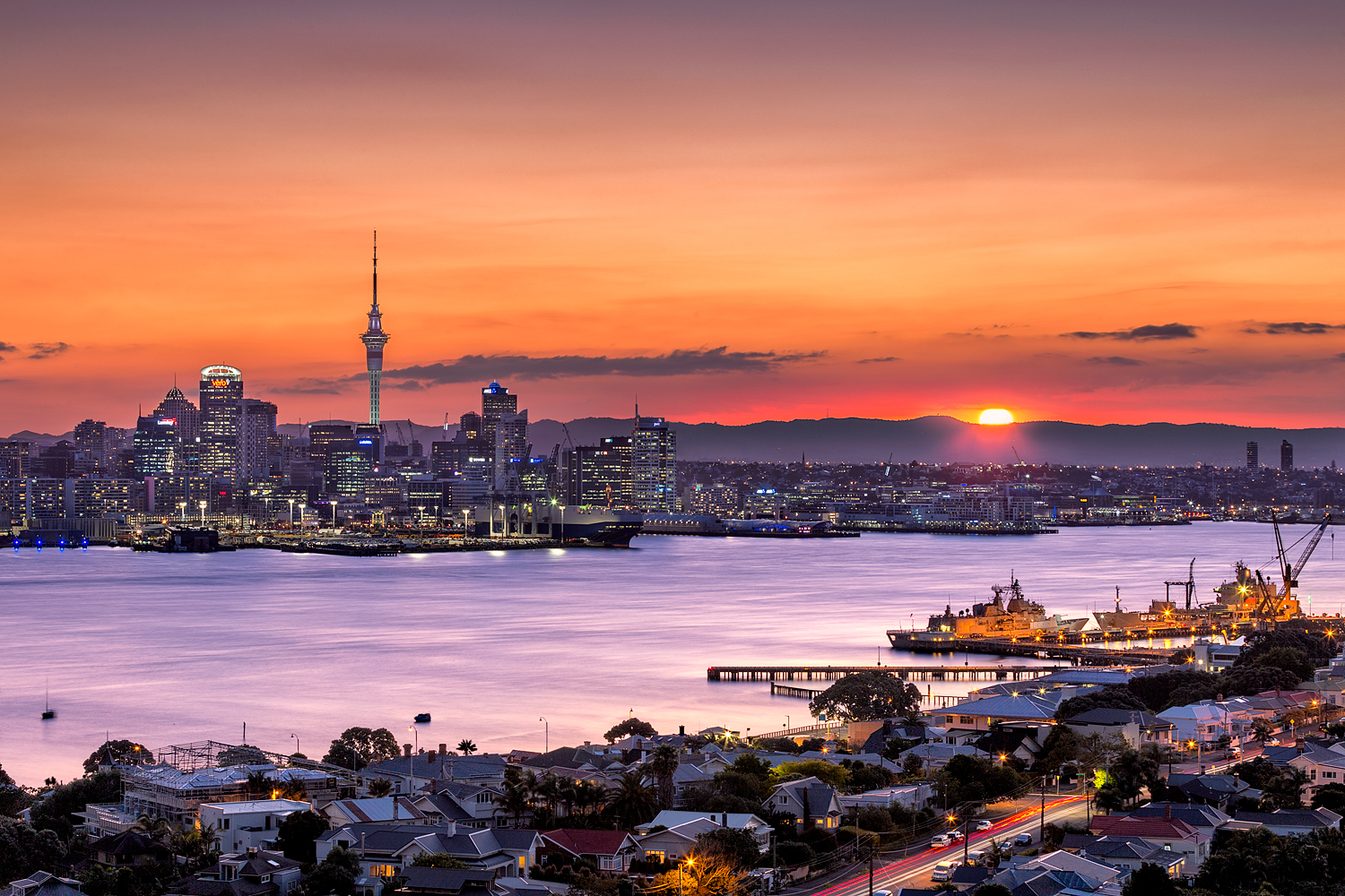 Auckland City from Mt Victoria