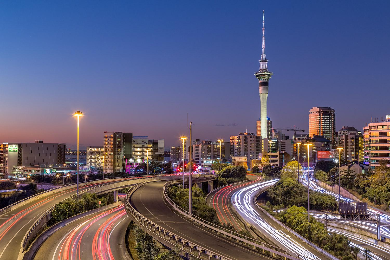 Auckland City From Hopetoun St Bridge