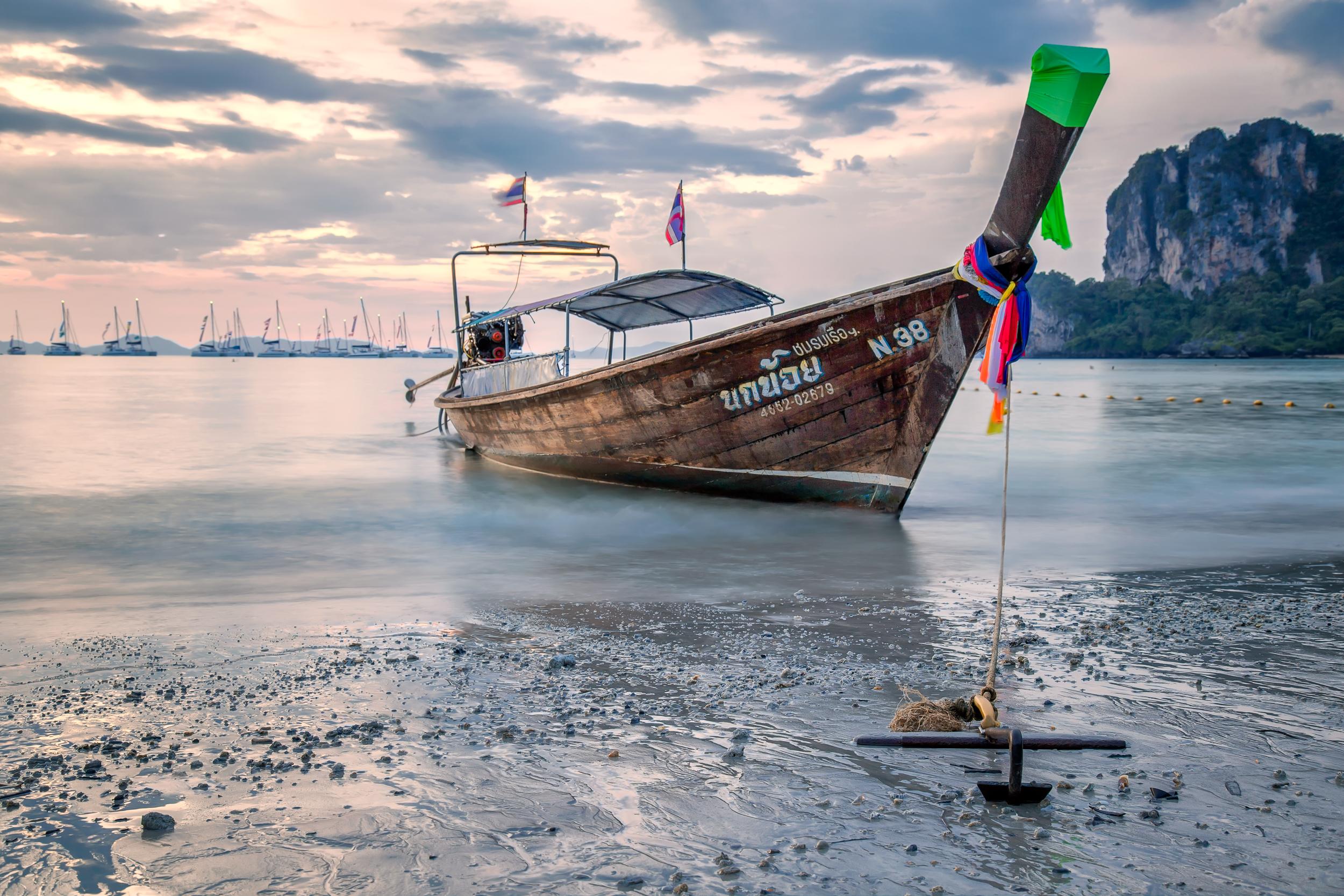 Longtail boat at Dusk