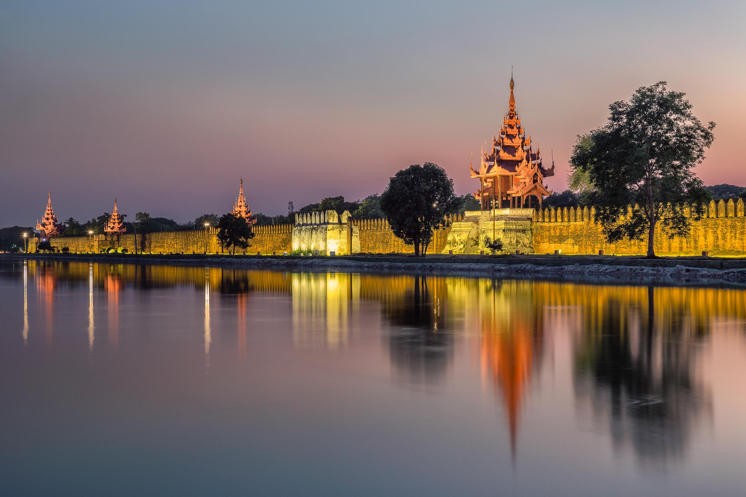 Mandalay Royal Palace Wall