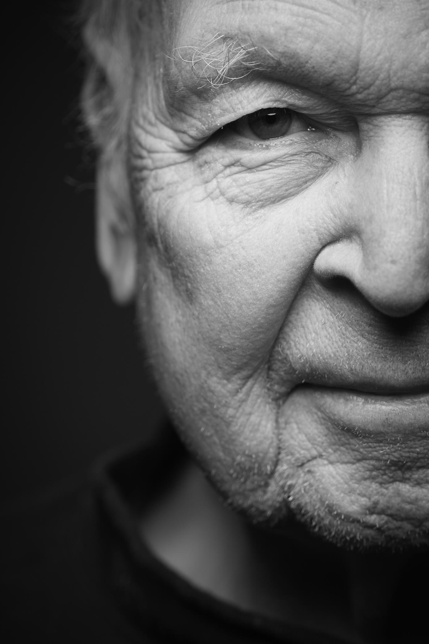 Black and White Grandfather Portrait