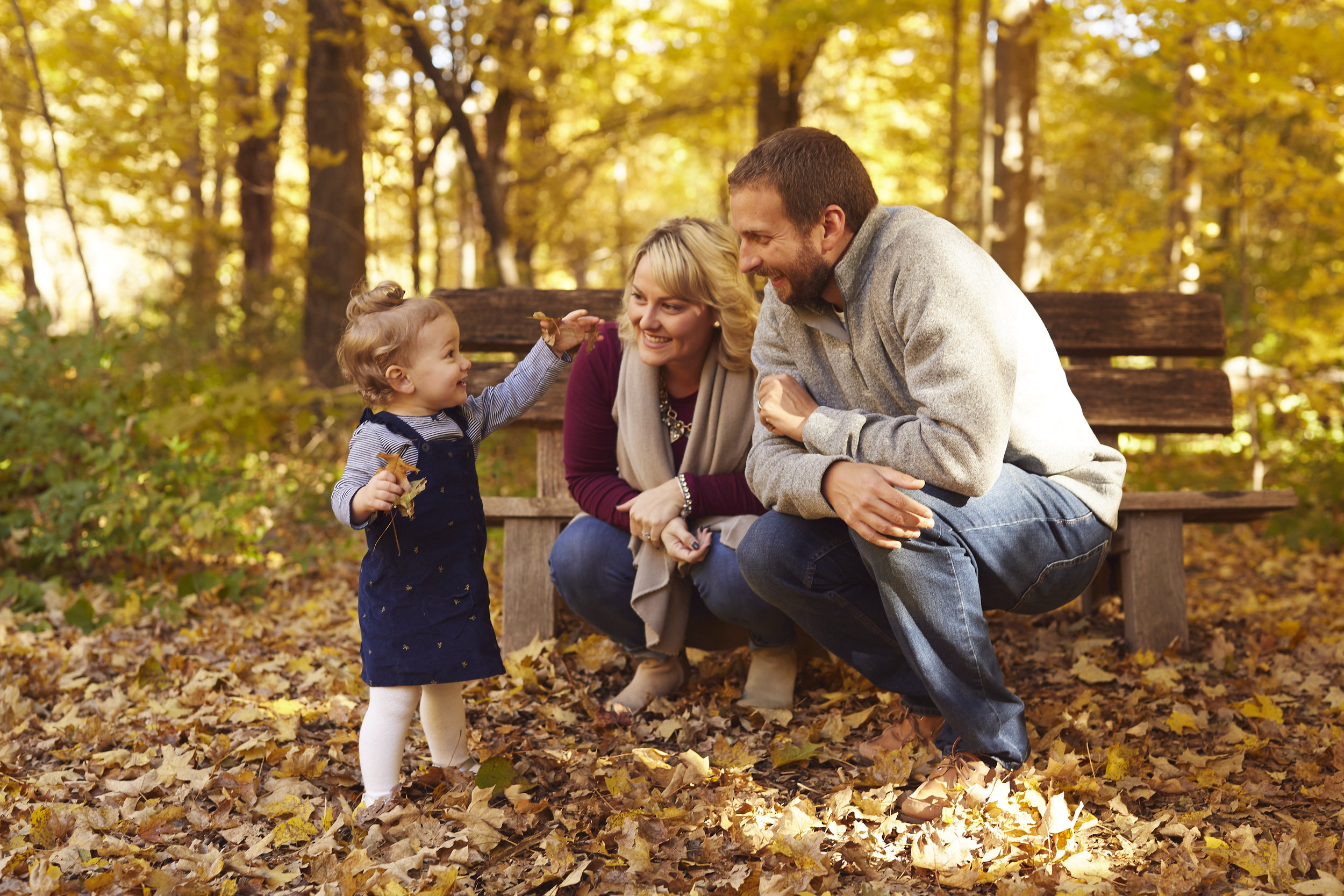 Colorful Fall Family Portrait Photography