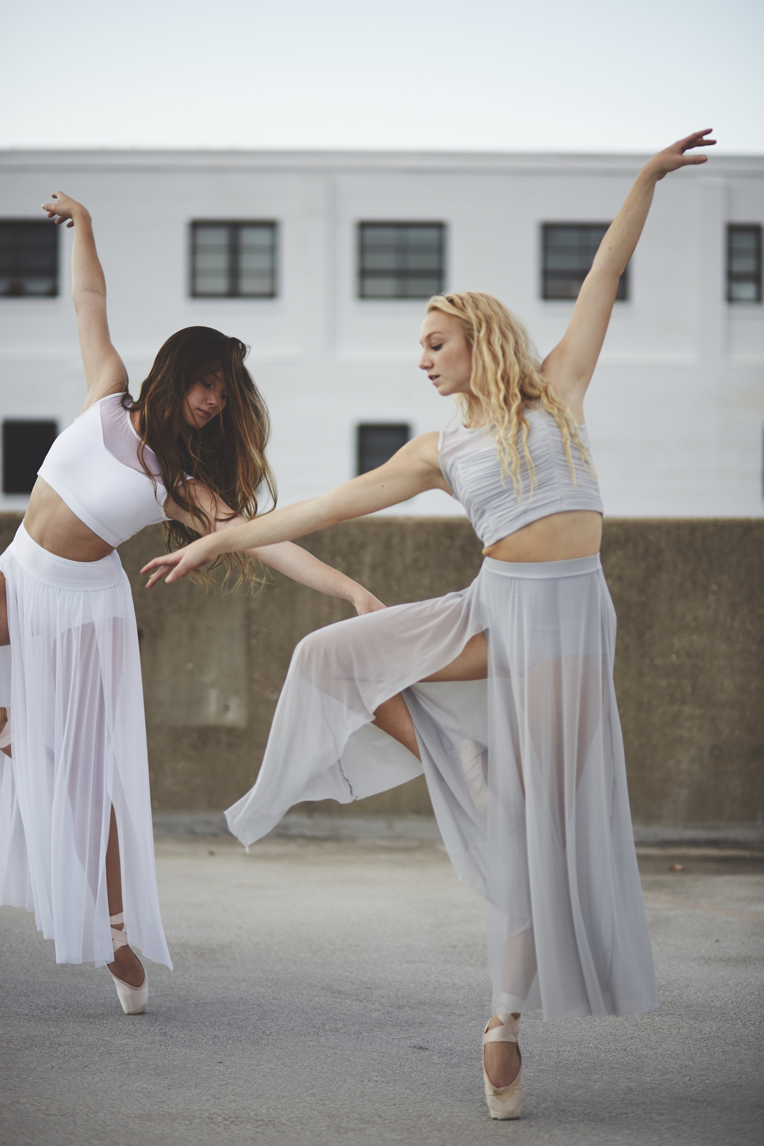 Two Ballerinas on Rooftop