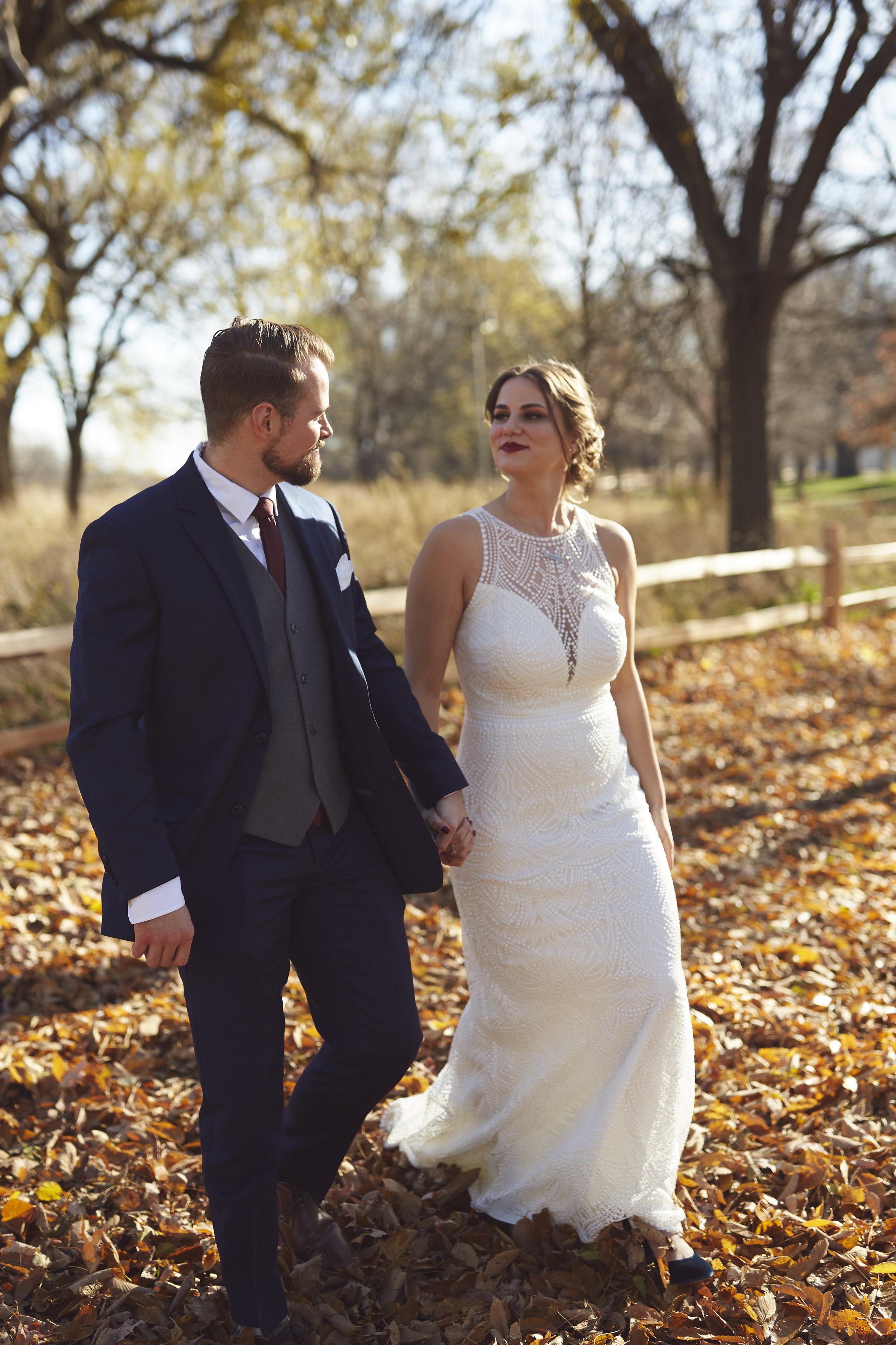 Fall Wedding Portrait Photography