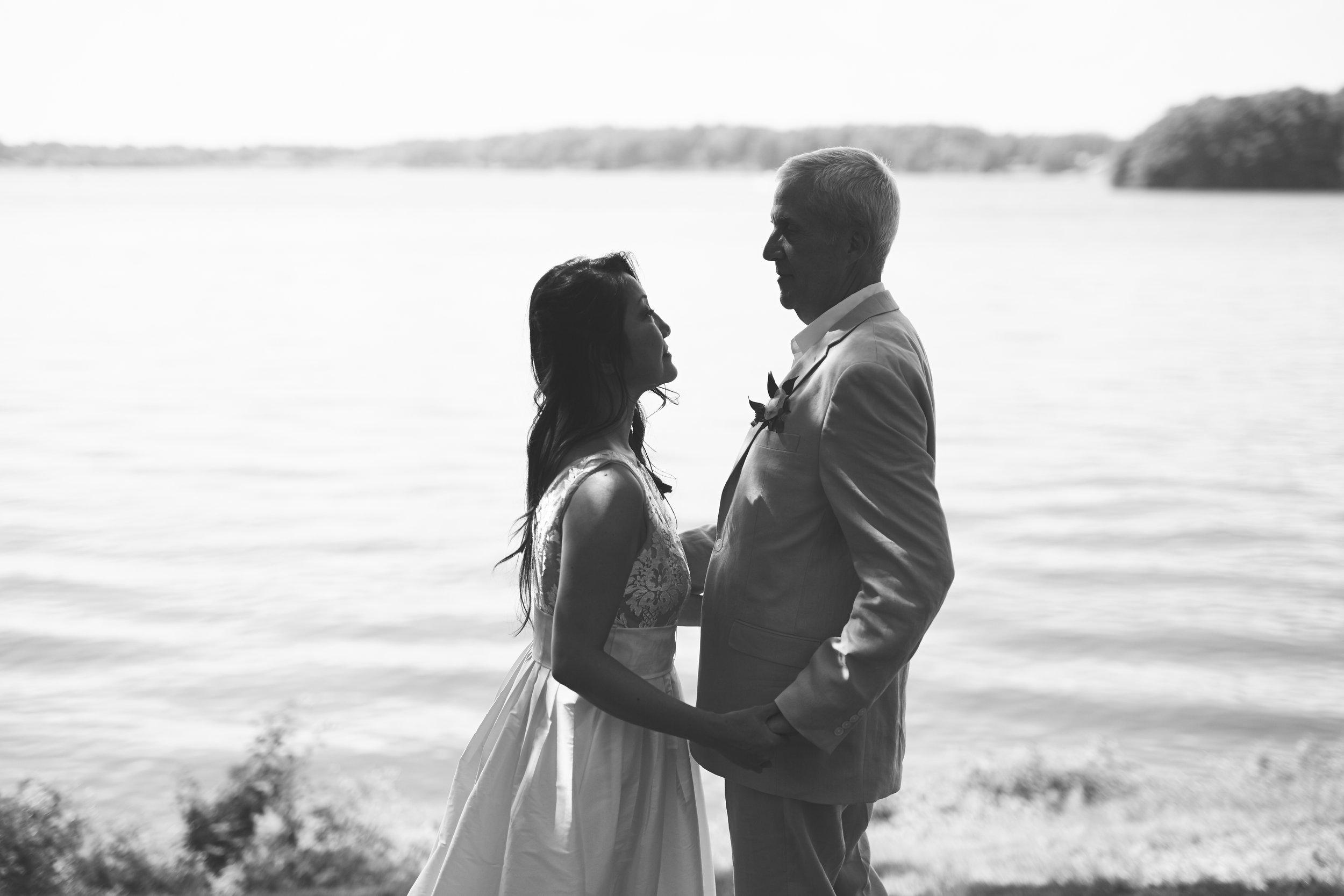 black and white wedding portrait Springfield IL