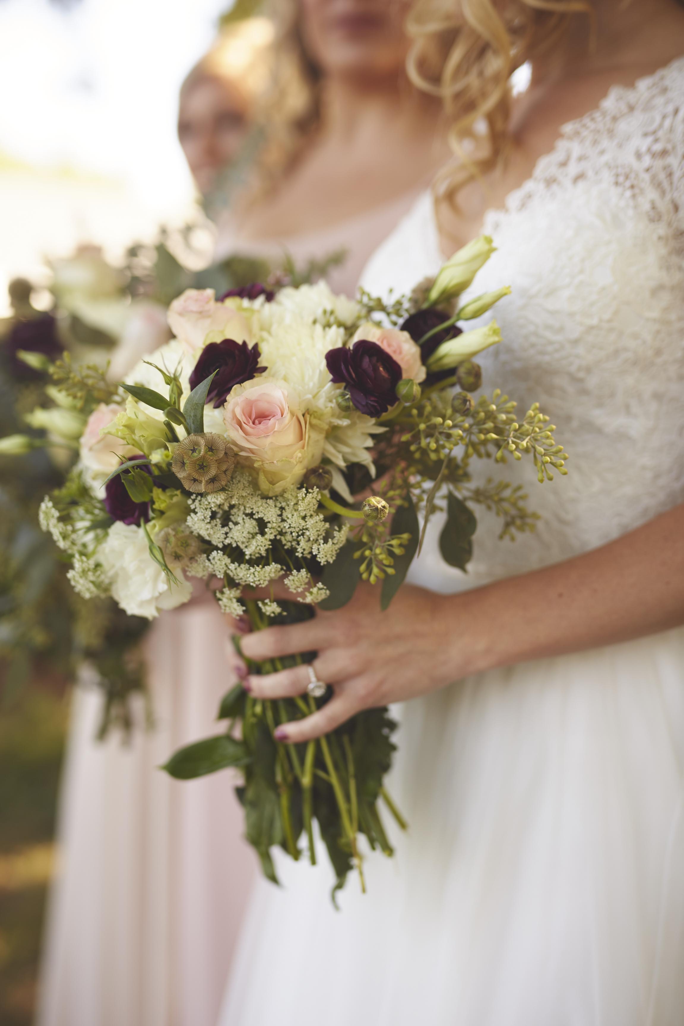 bridal flower bouquet detail photo