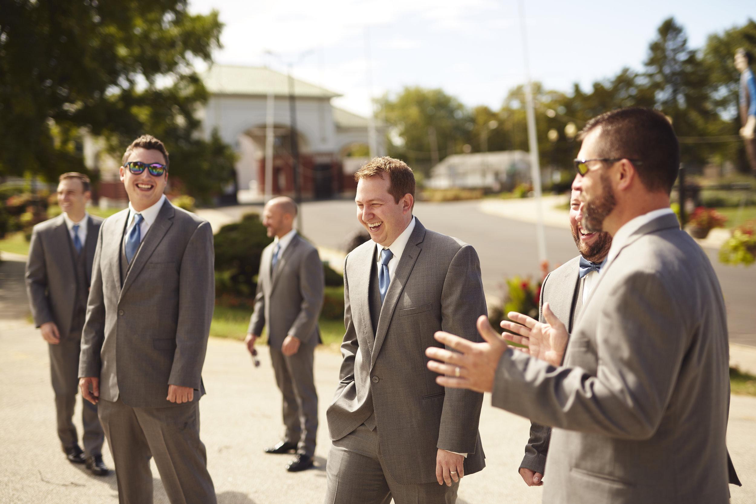 groomsmen photo at Springfield IL fairgrounds