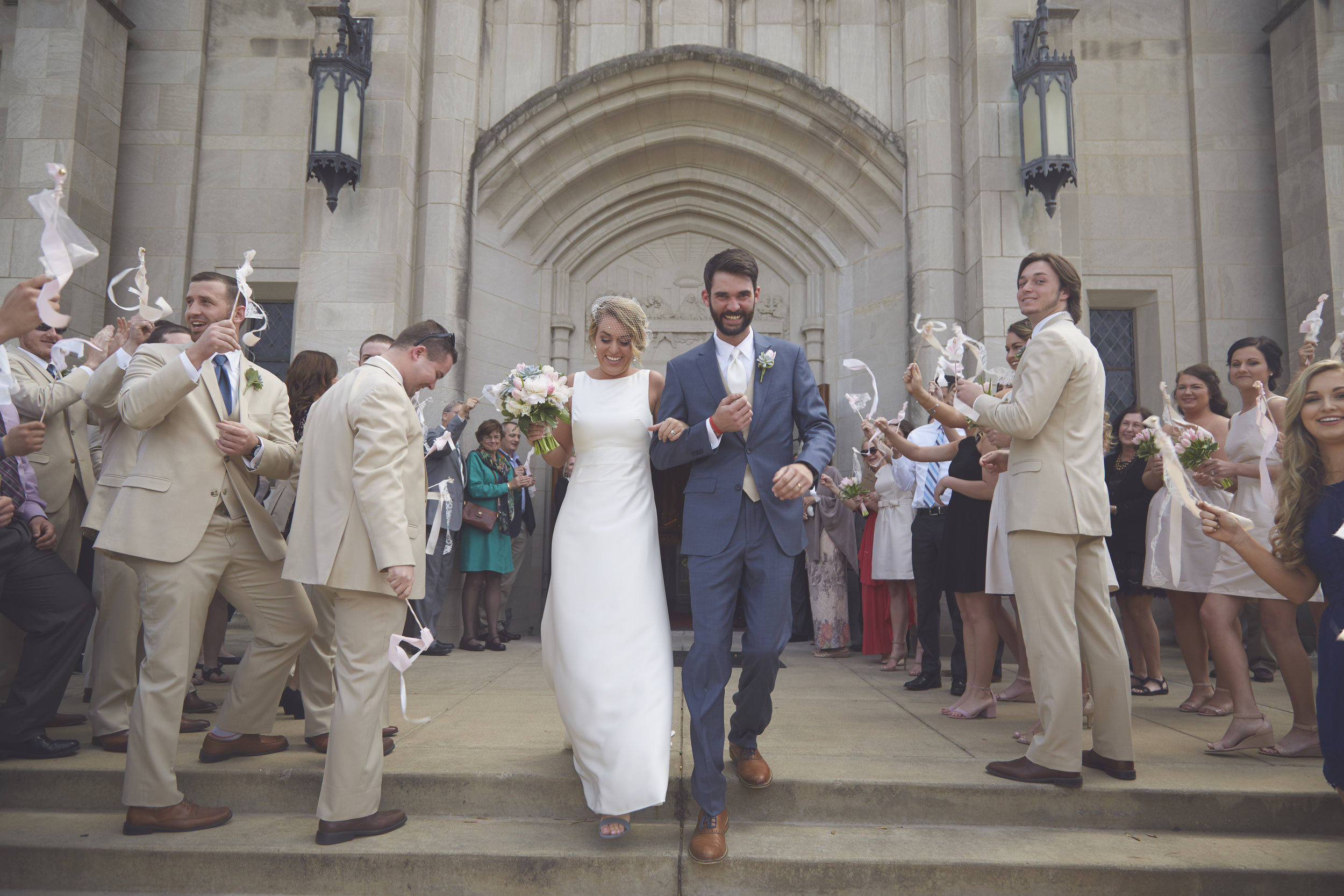 wedding ceremony exit Illinois church