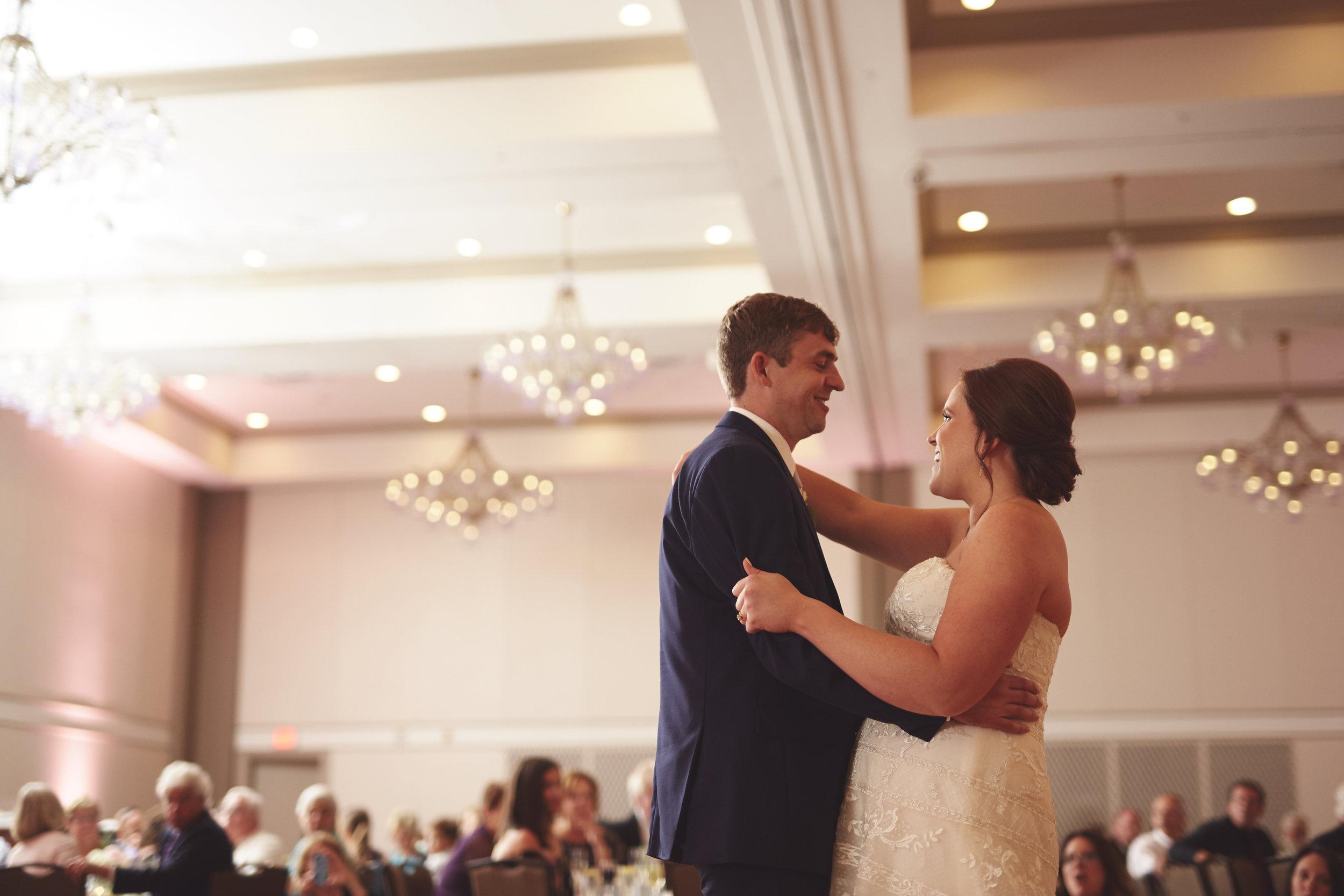 wedding reception first dance candid