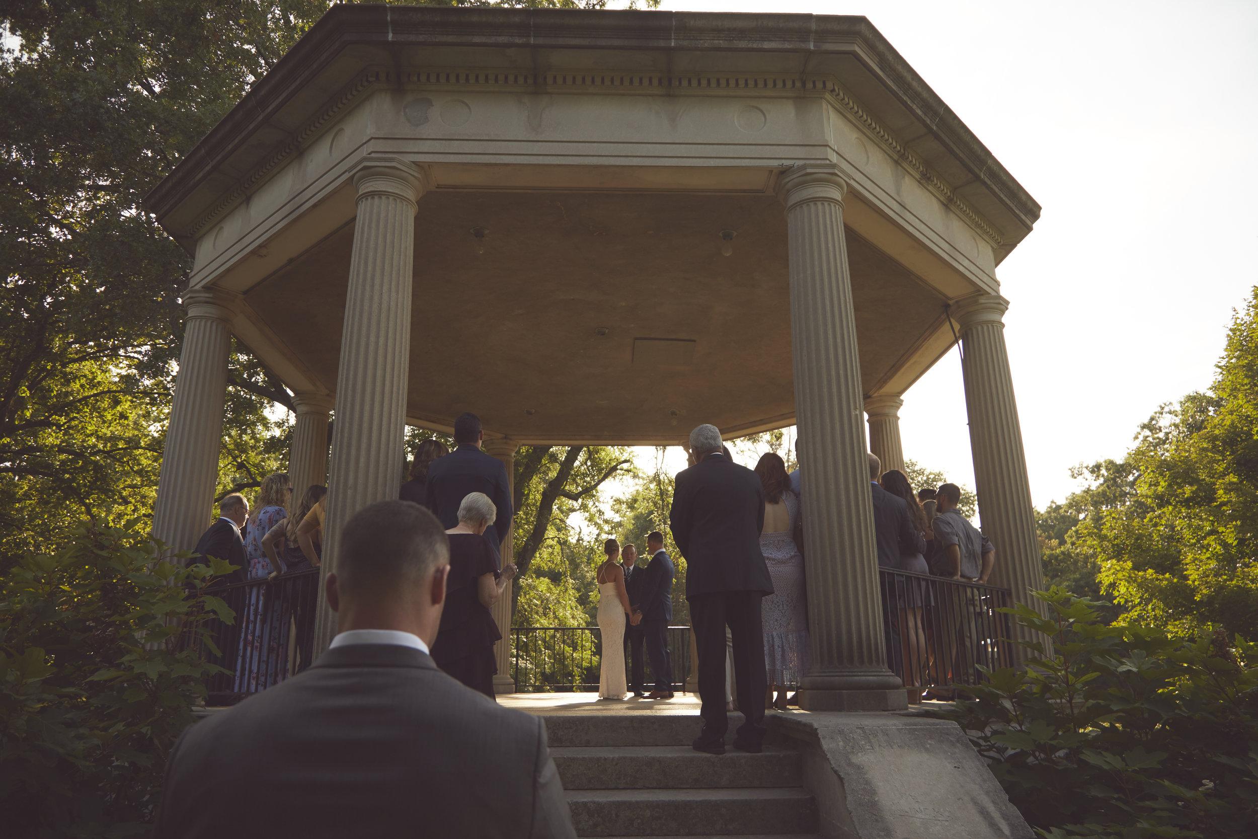 Washington Park wedding ceremony Springfield IL