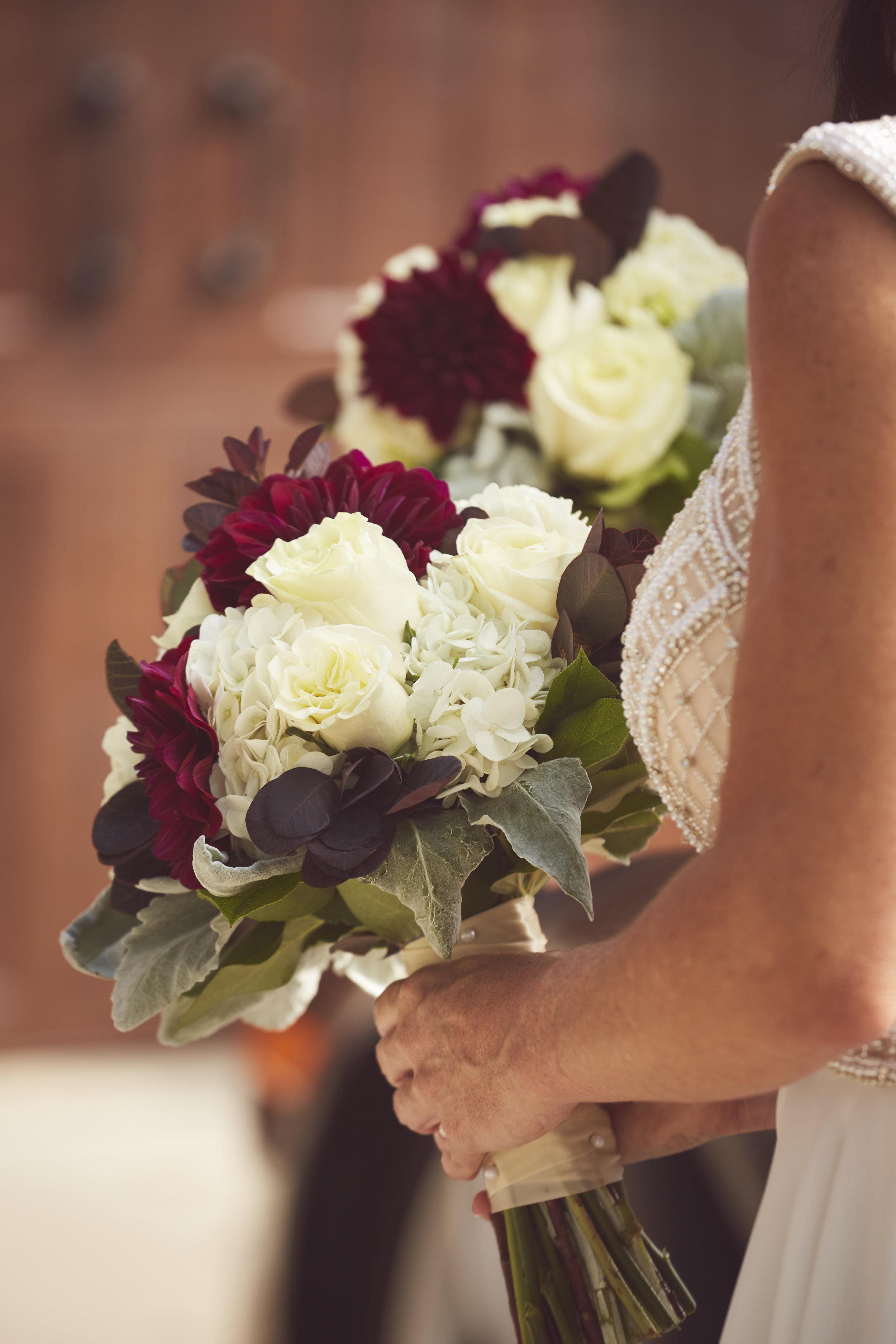 wedding ceremony bouquet detail photo
