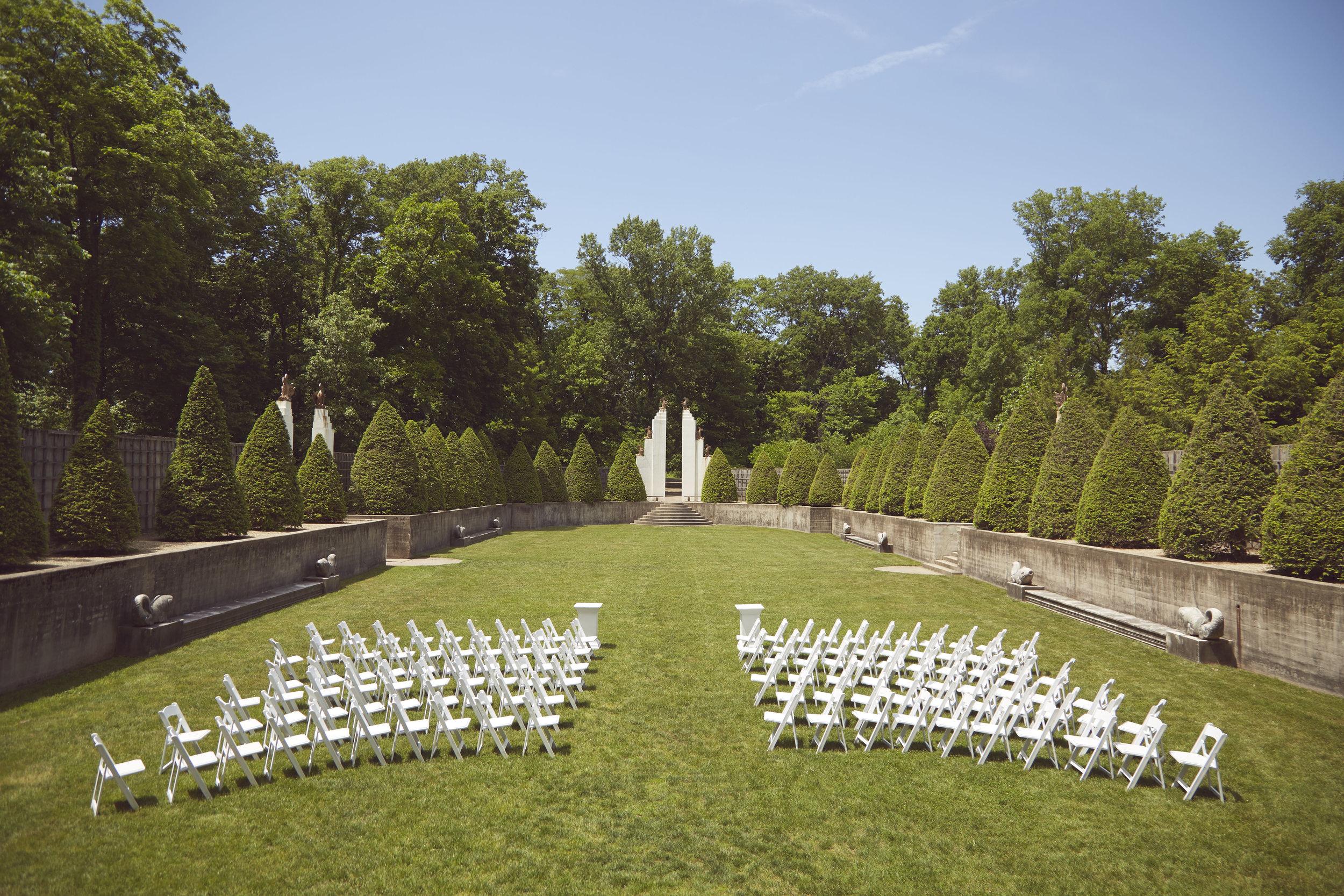 Allerton park Illinois wedding ceremony