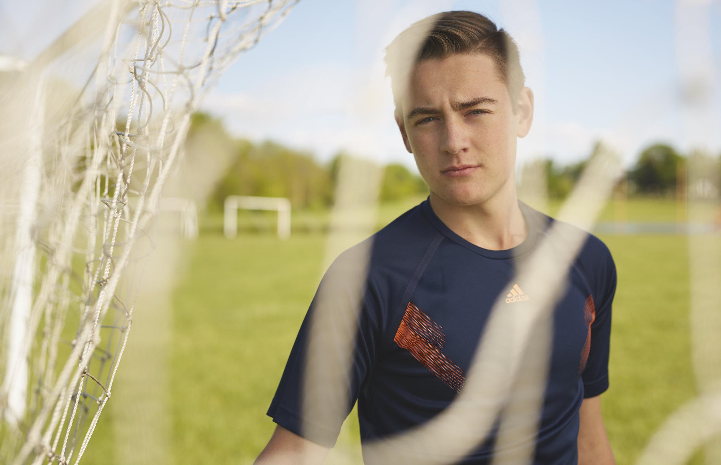 high school male soccer portraits in Rochester IL