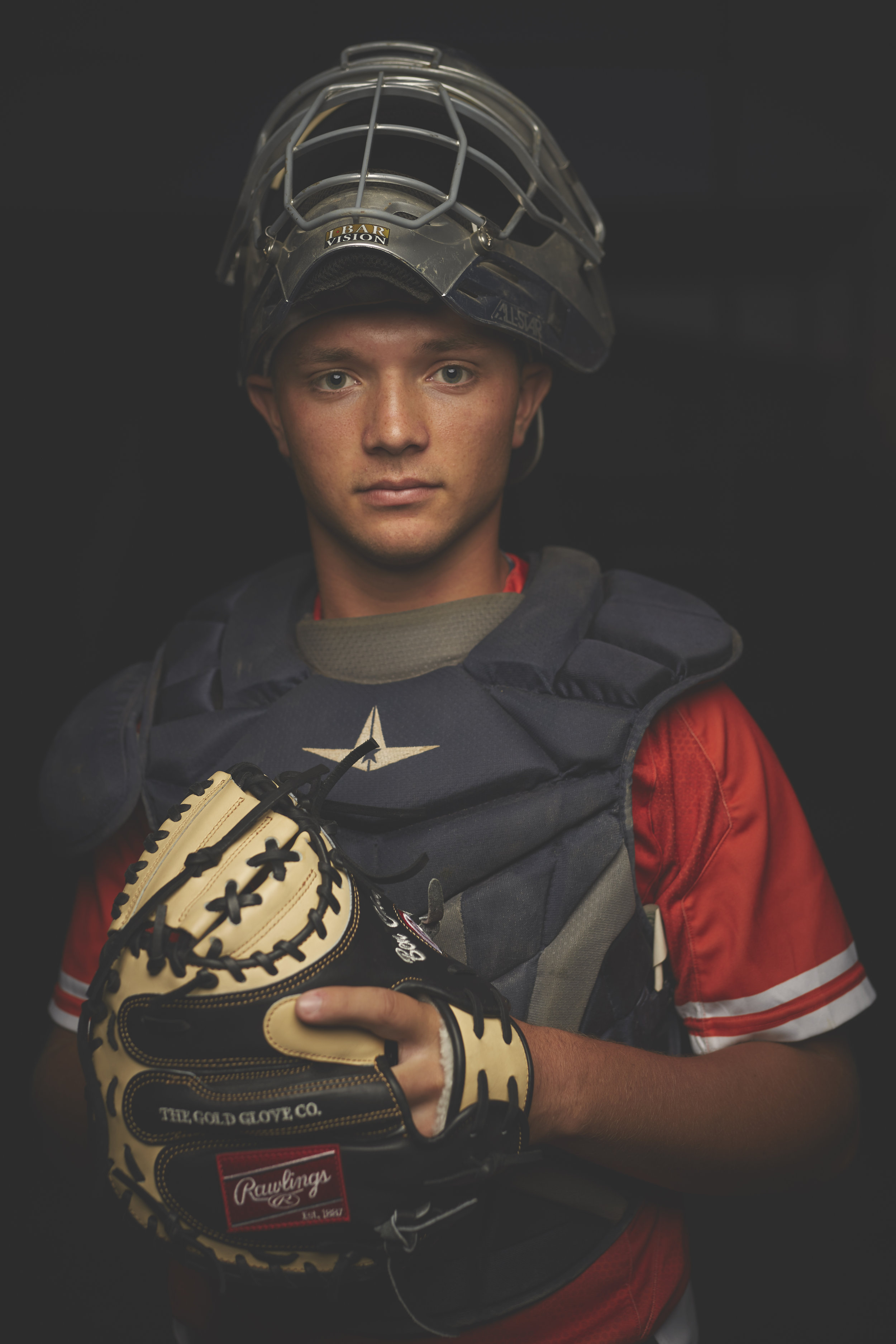 baseball catcher sports portrait shoot