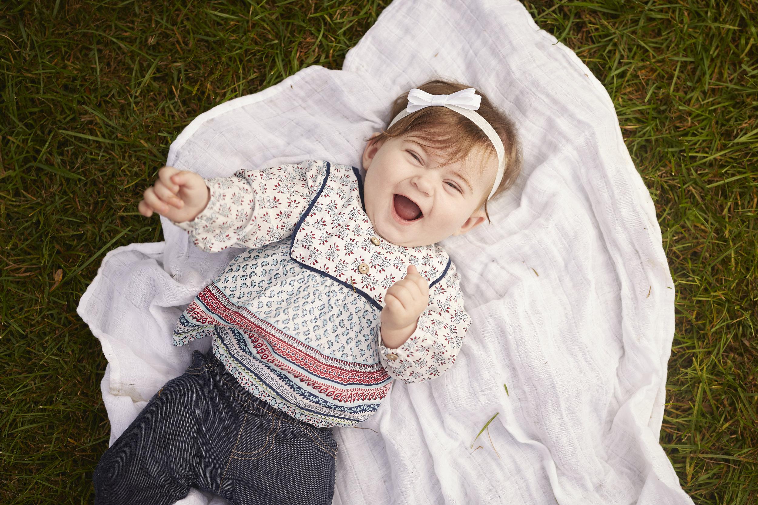happy smiling baby portrait