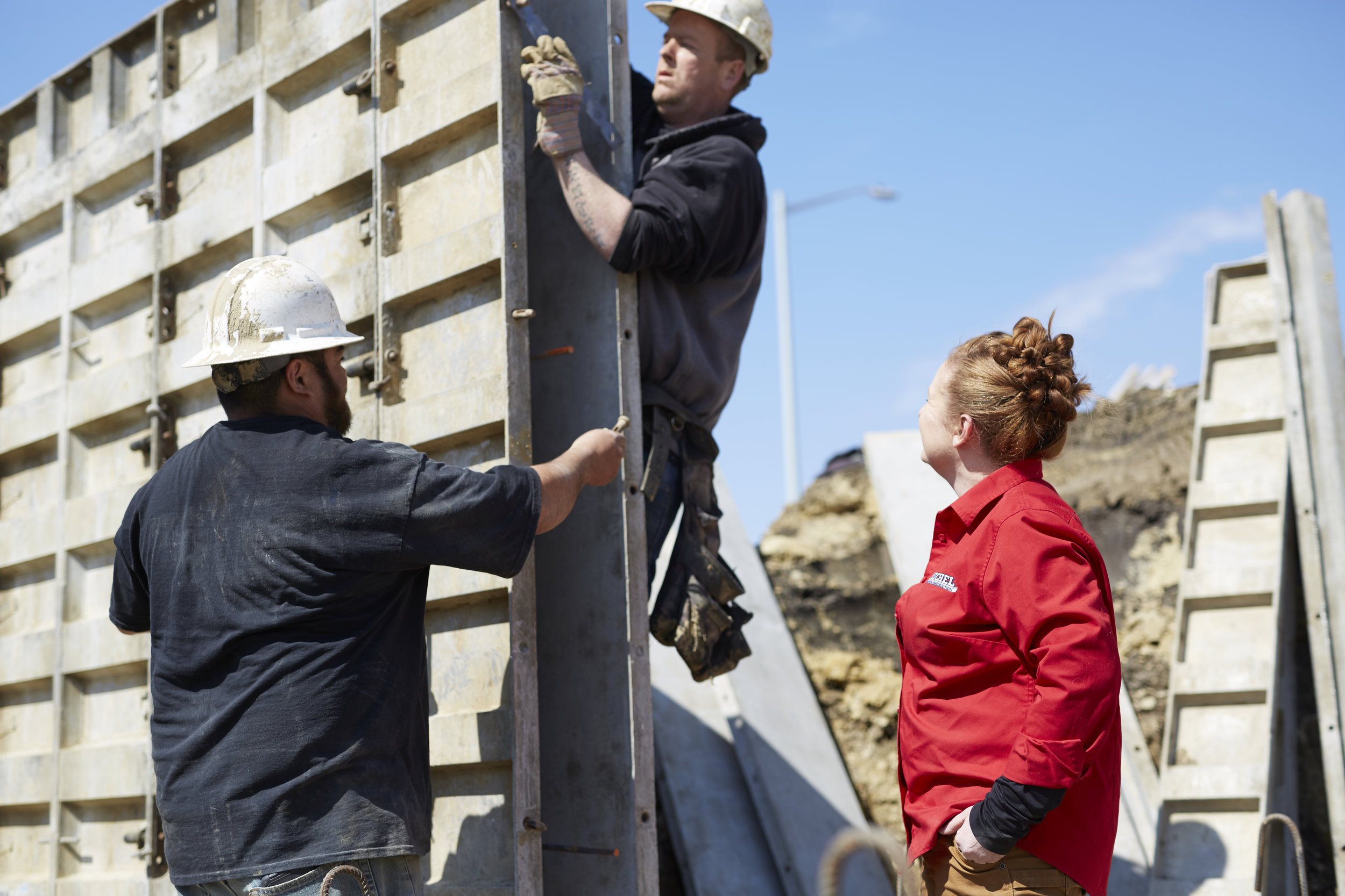 commercial magazine shoot Illinois construction site
