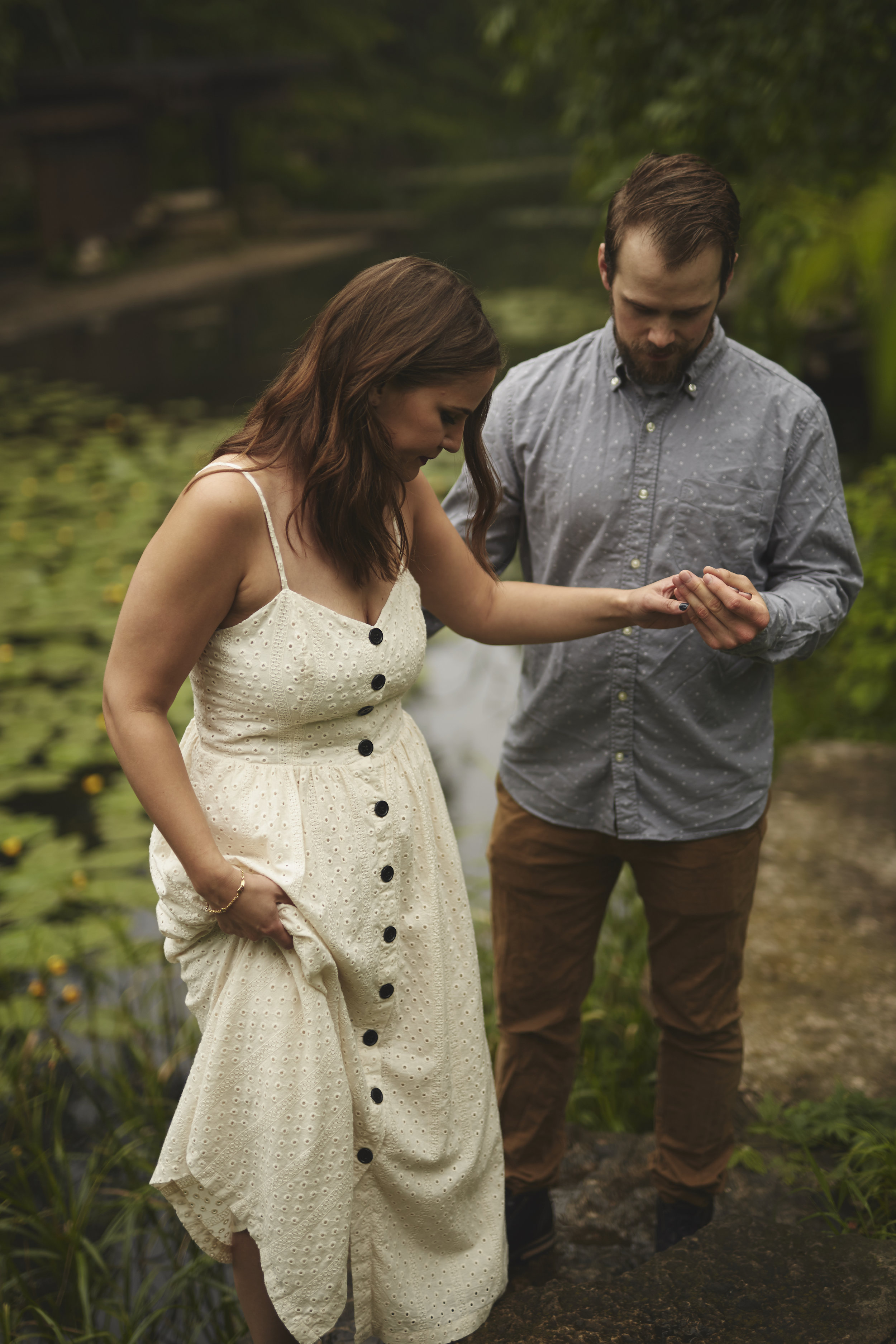 editorial styled engagement portraits
