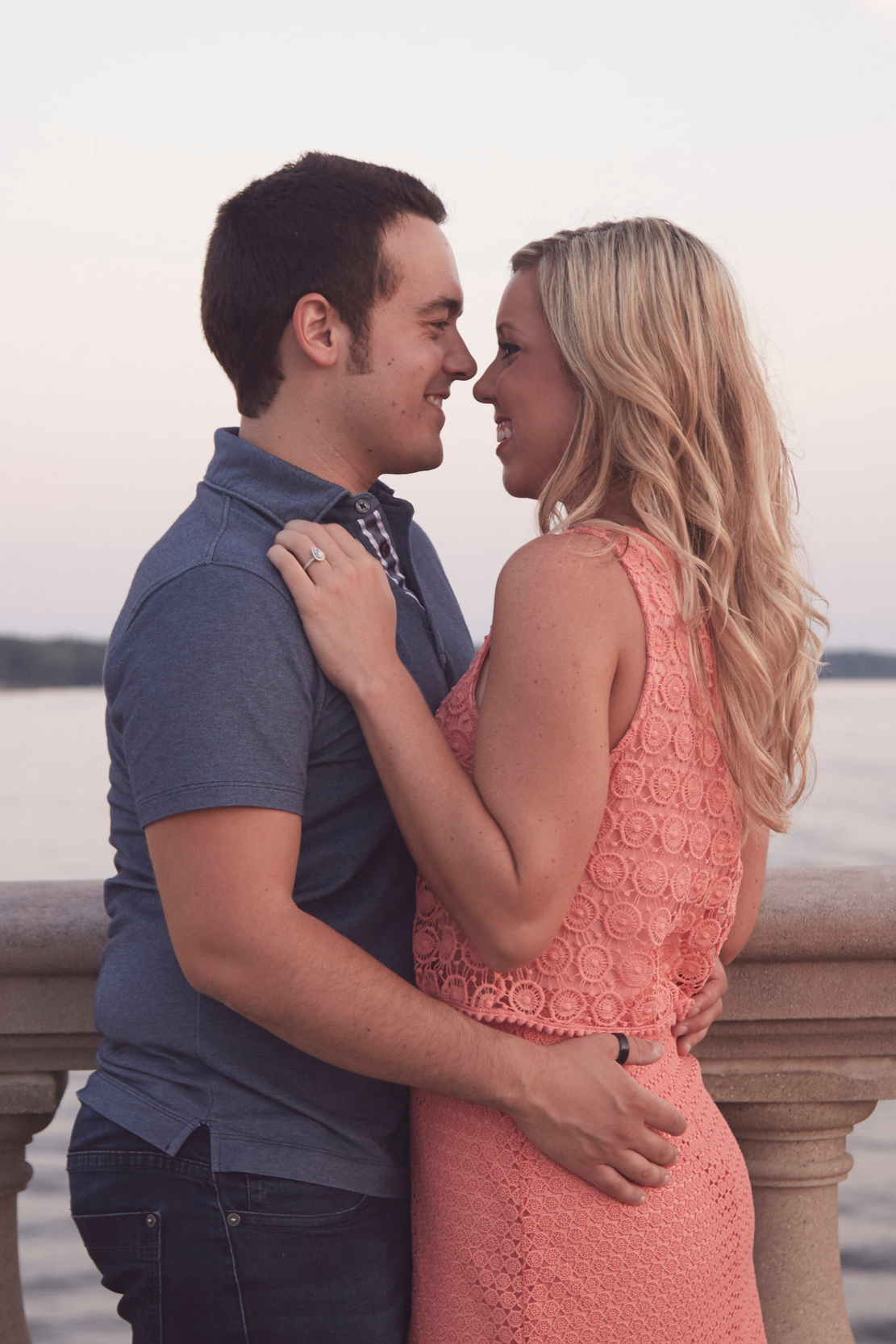 romantic Illinois engagement shoot
