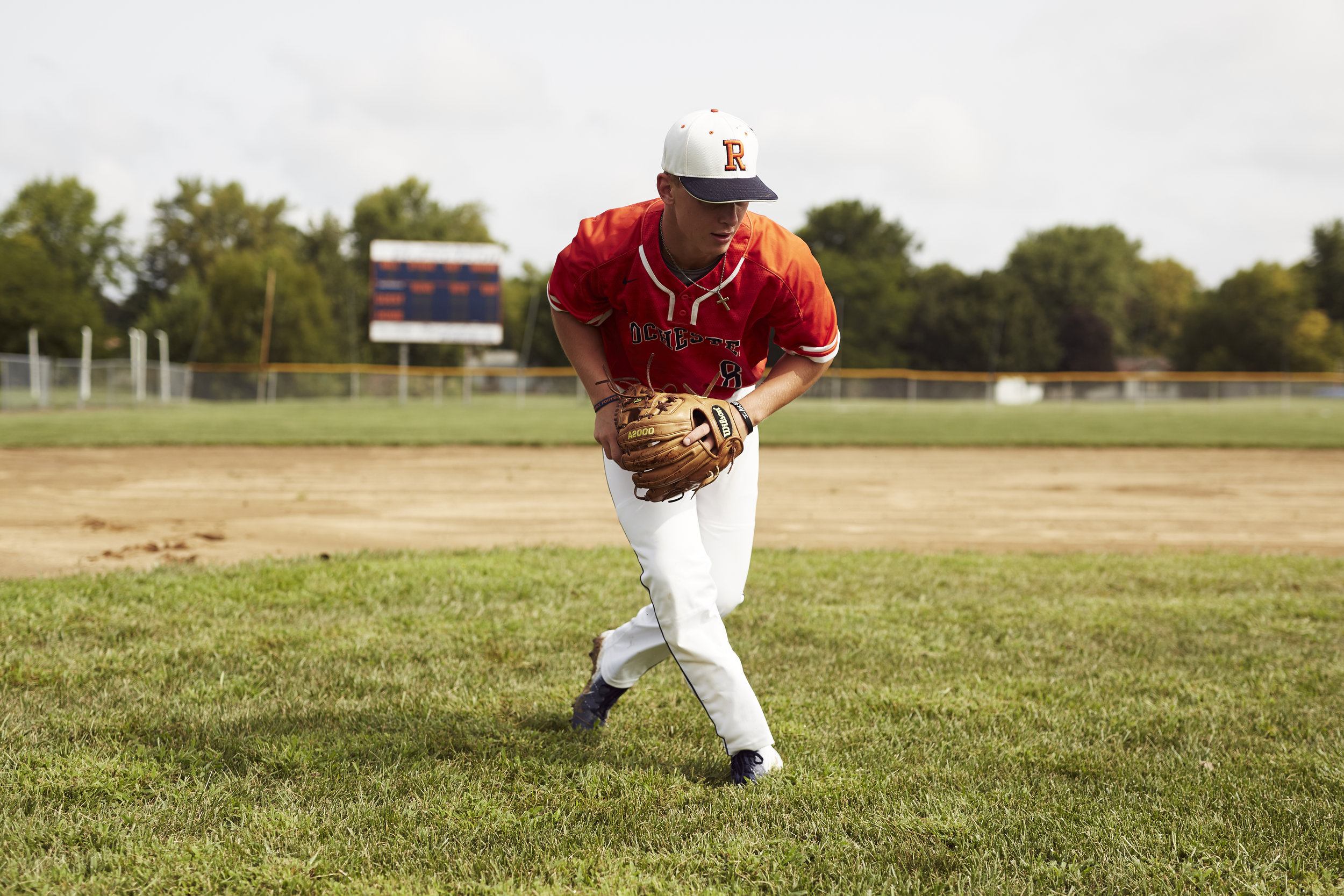 High School Baseball Action Photo